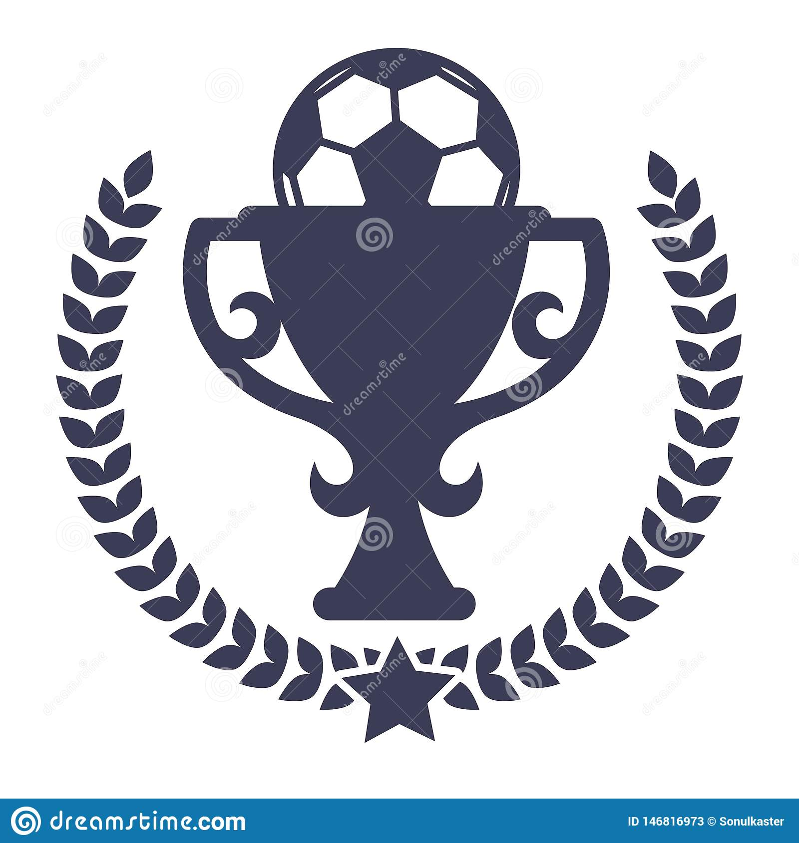 Soccer Tournament Or Football Match Win Prize Isolated Icon
