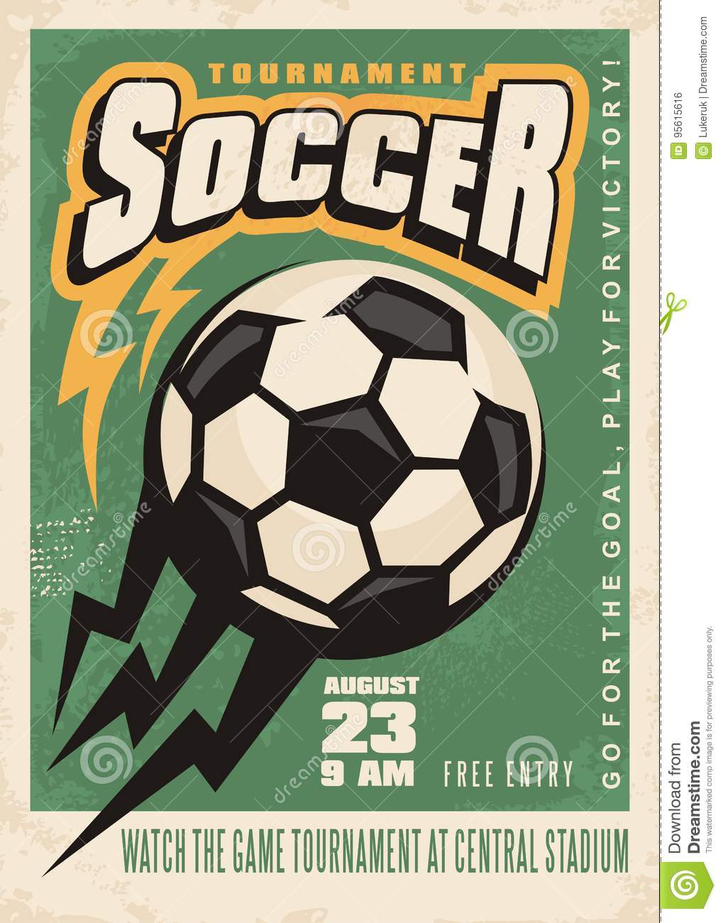 Download Soccer Tournament Vector Poster Template Stock