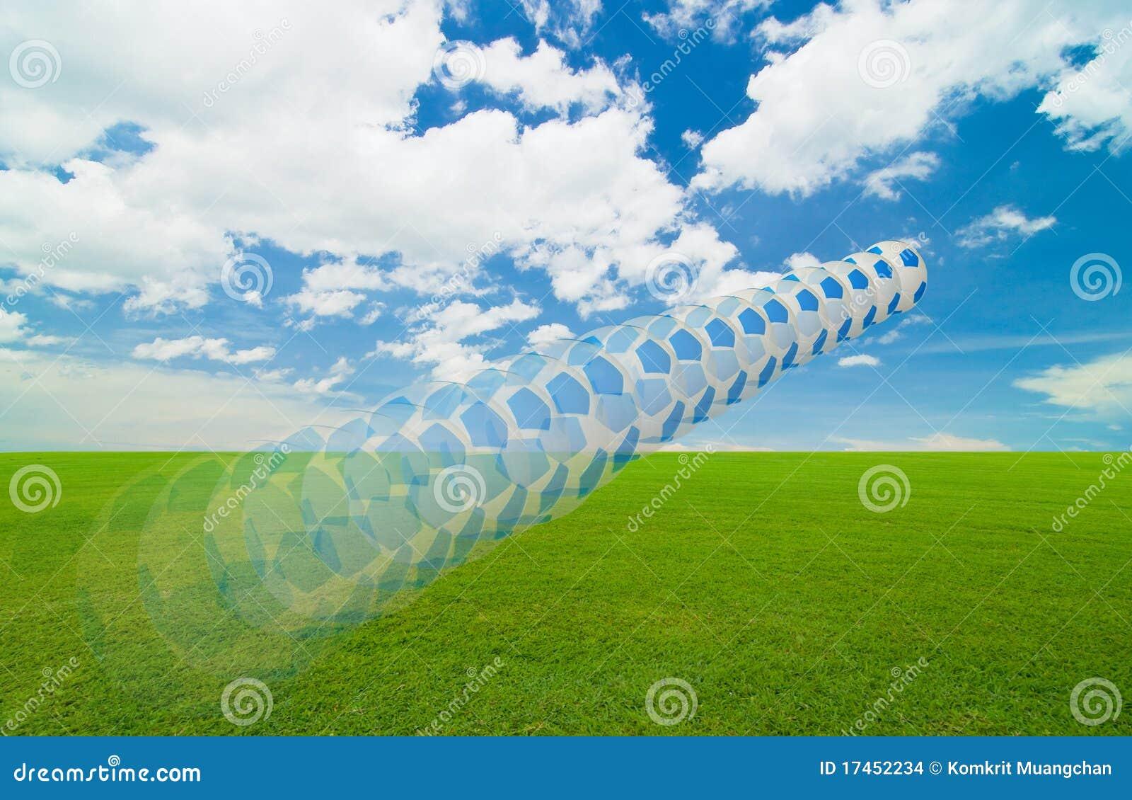 Soccer under the blue sky