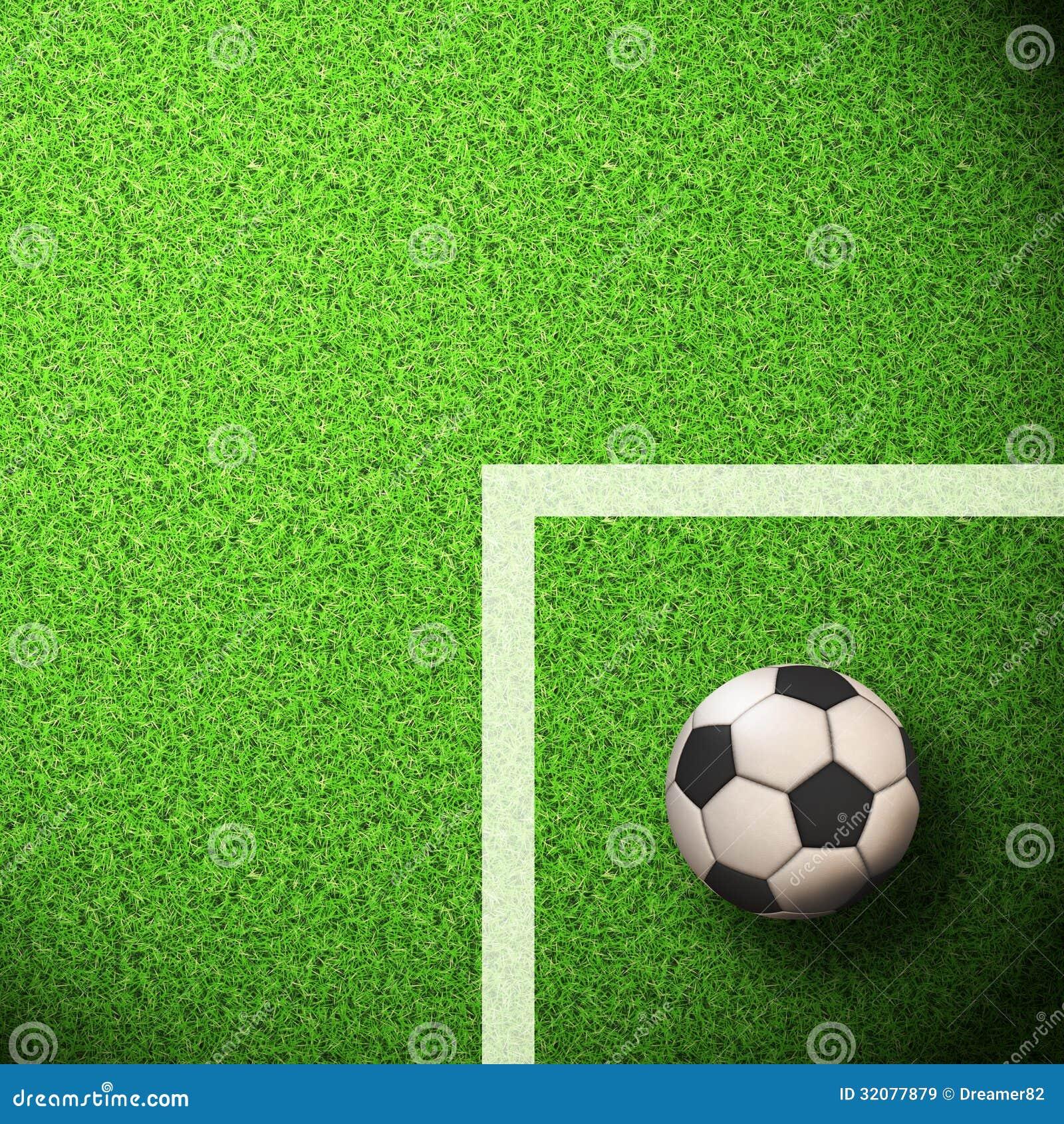 Soccer Wallpaper Ball On Grass Stock Illustration Illustration Of
