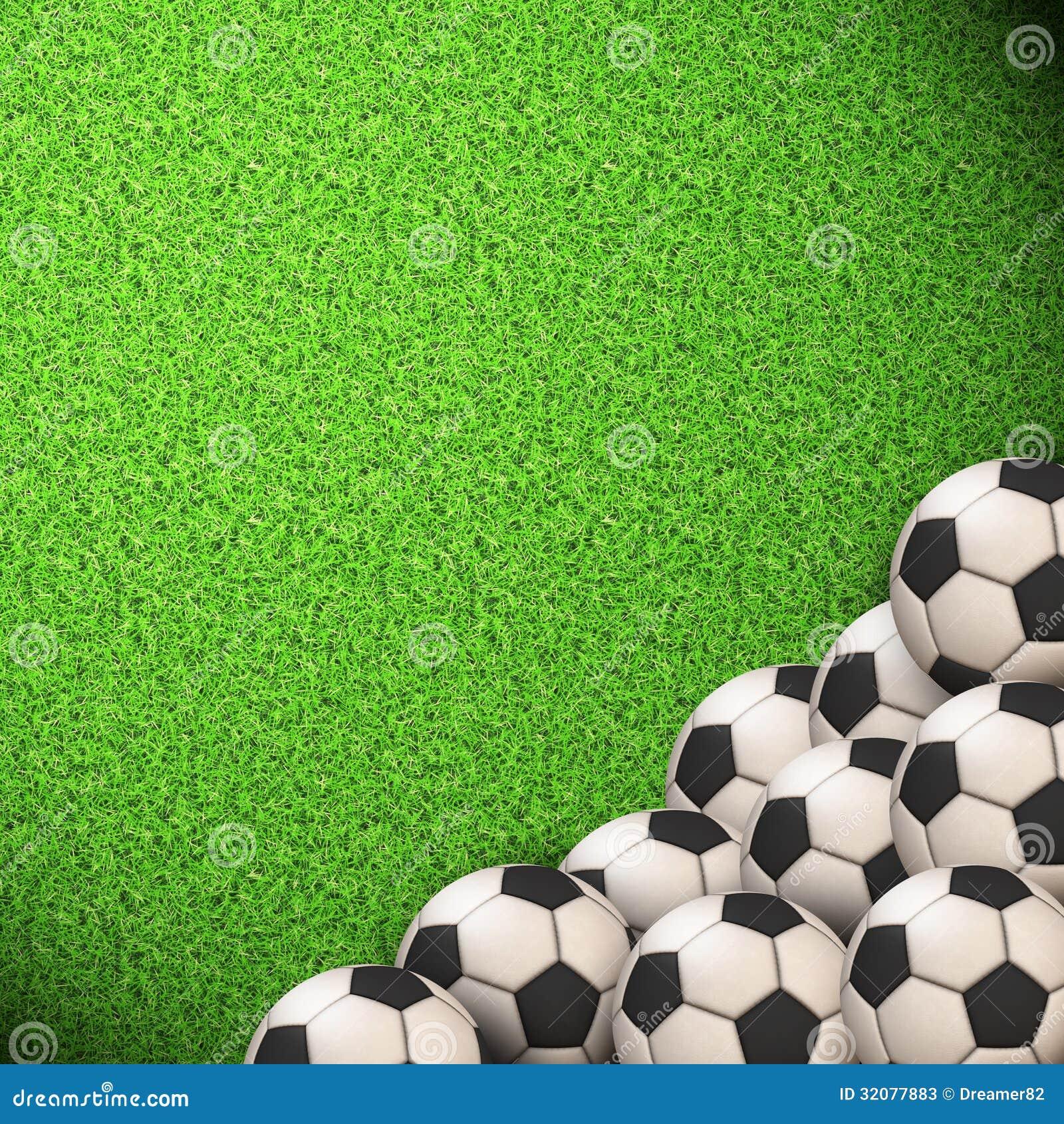 Soccer Wallpaper. Ball On Grass Stock Photos