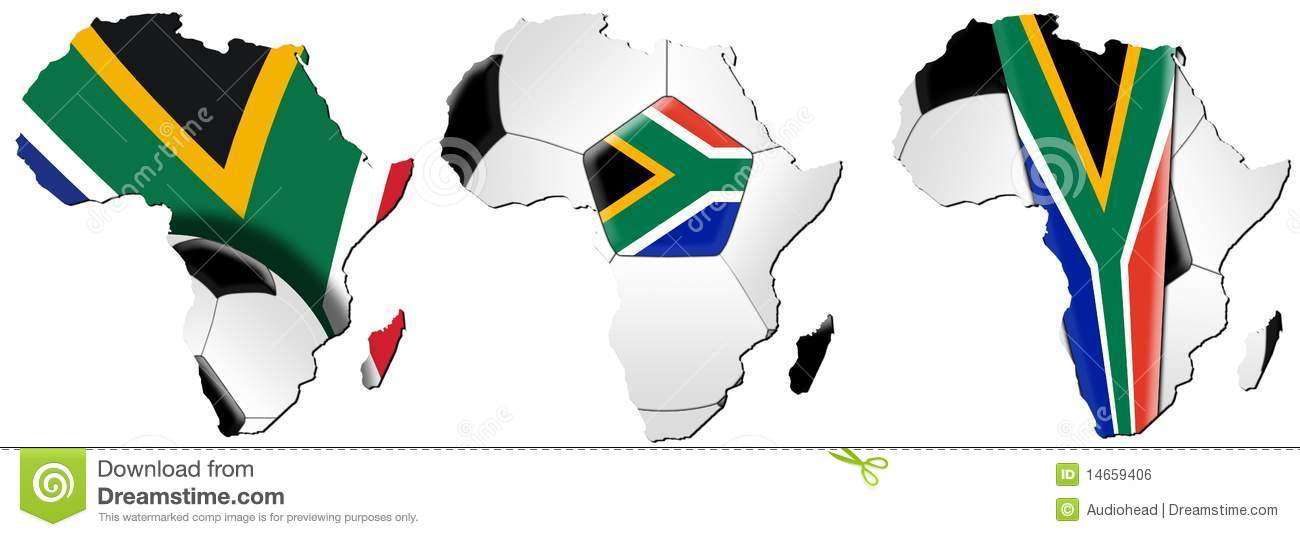 Map Of Africa 2010.Soccer World Cup 2010 Maps Of Africa Stock Illustration