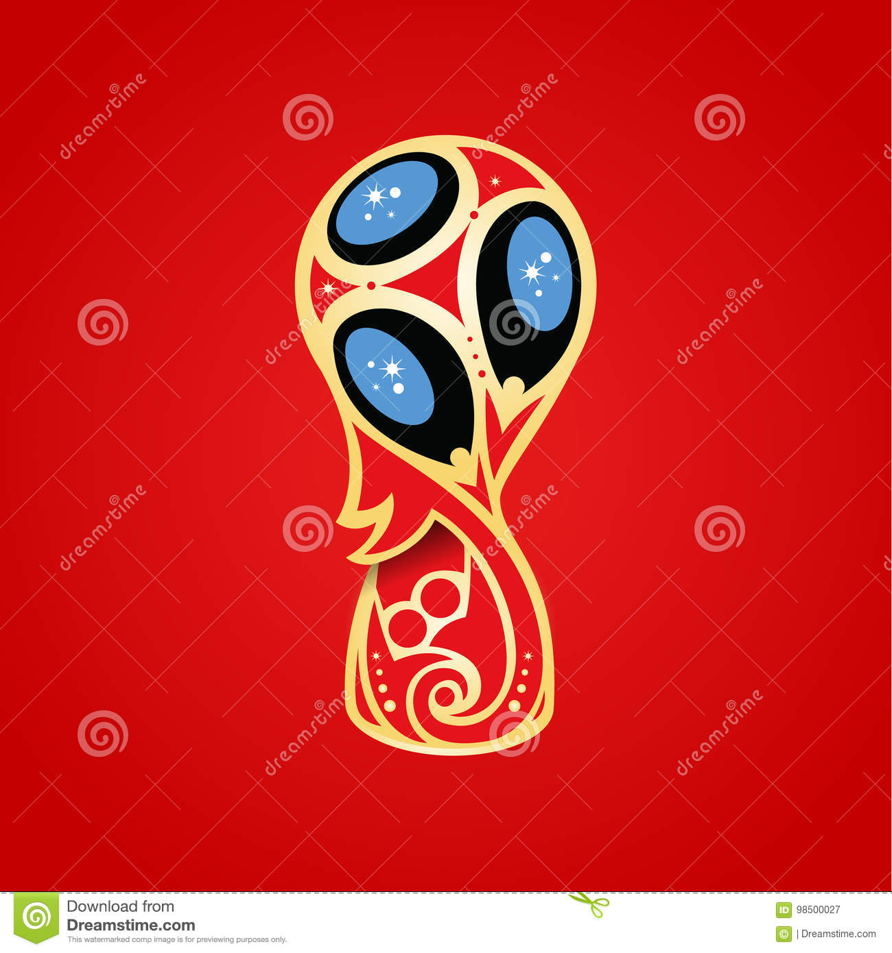 soccer world cup in russia 2018 stock vector illustration of