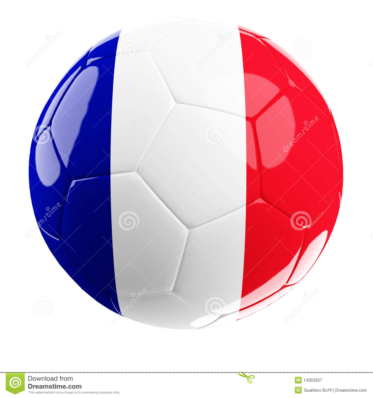 Soccerball Of France Royalty Free Stock Photography - Image: 14353257