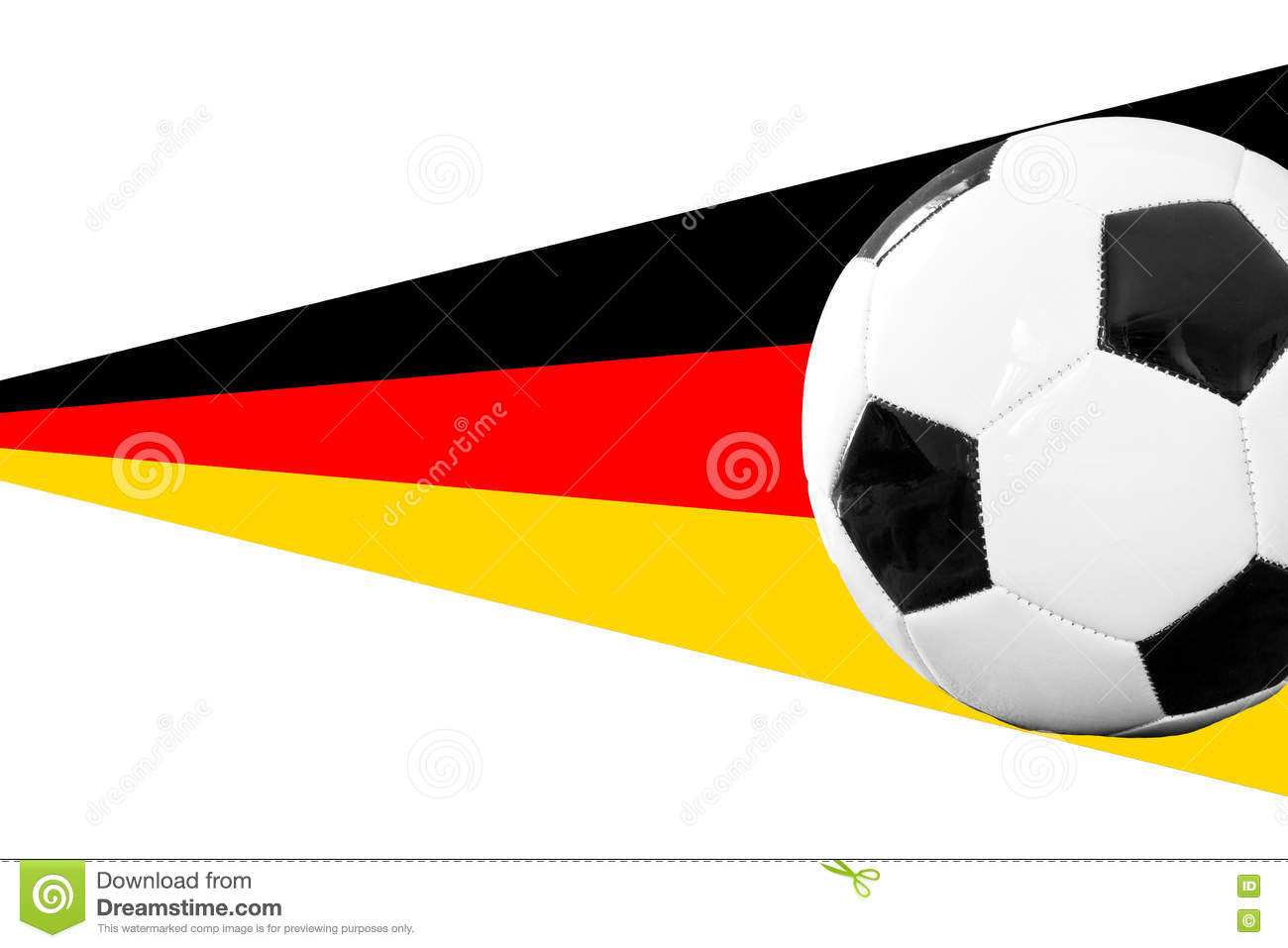 soccerball with german banner stock image image of flag