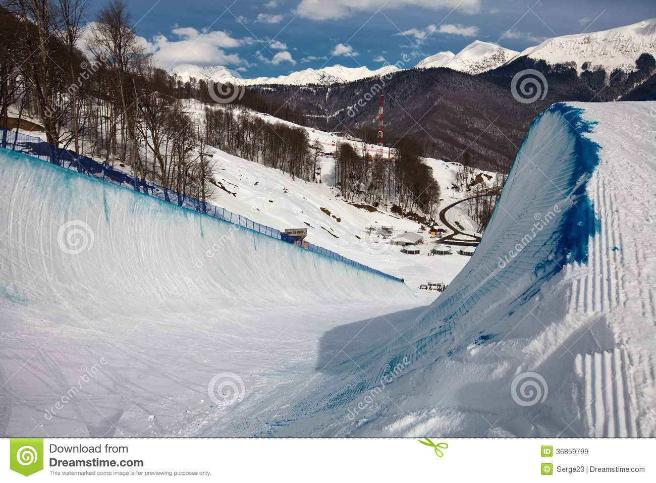 Venue Winter Olympic Games in Sochi in 2014 - with the infrastructure