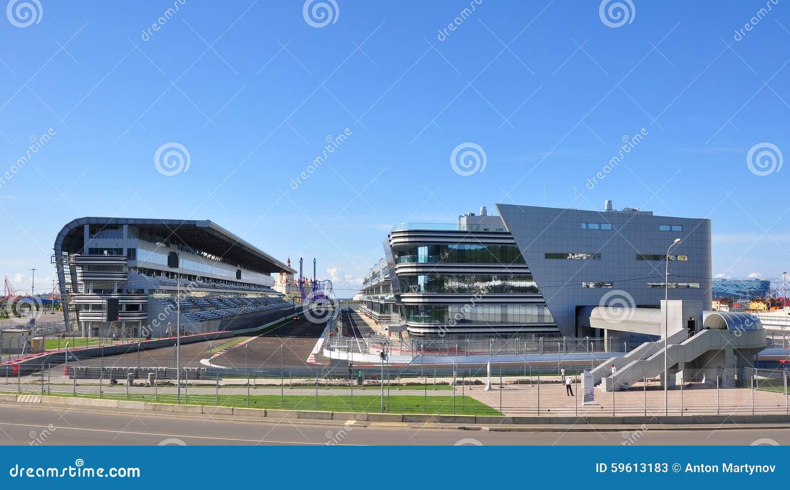Sochi Rosja, Wrzesień, - 23, 2014: Początku i kona teren formuły 1 ślad w Sochi
