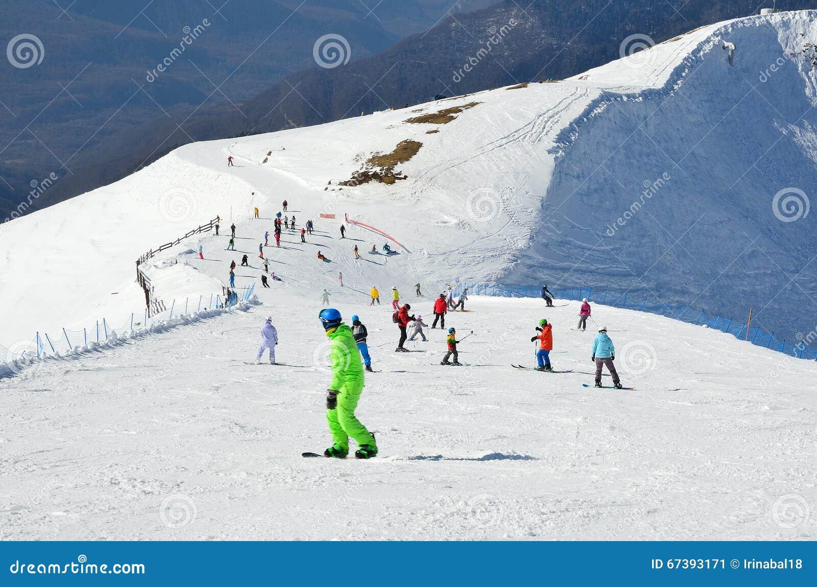 Plans for the ski slopes in Sochi in 2019 91