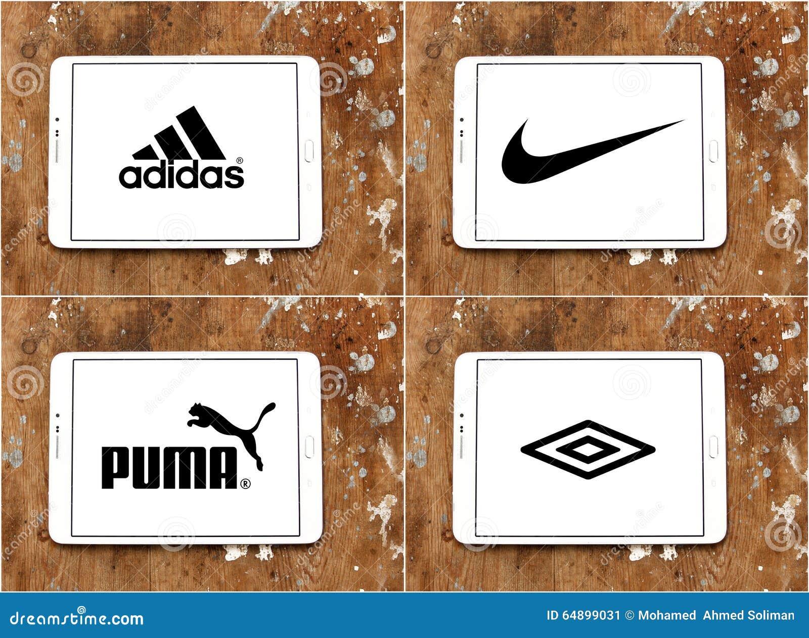 Sociétés adidas, nike, puma, umbro de vêtements de sport