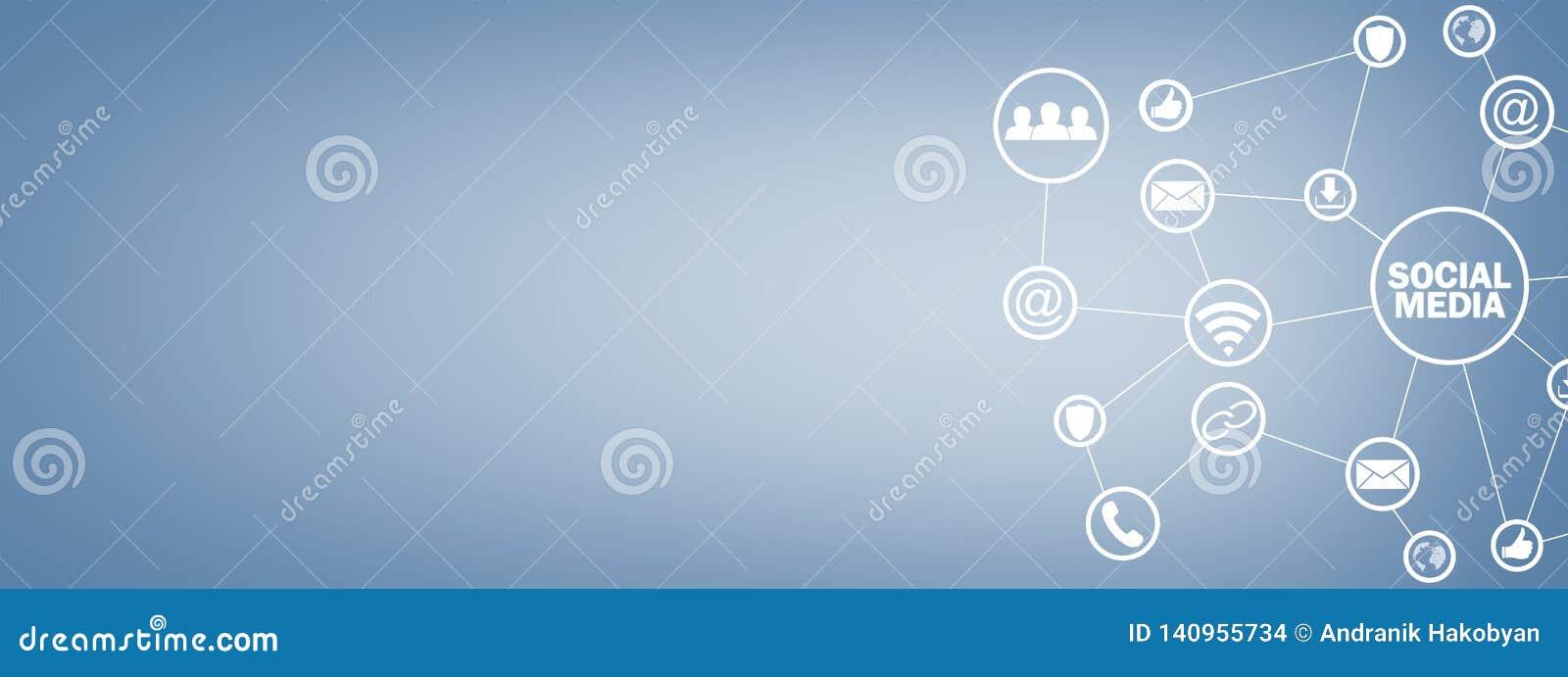 Sociaal media concept Zaken, Technologie, Mededeling