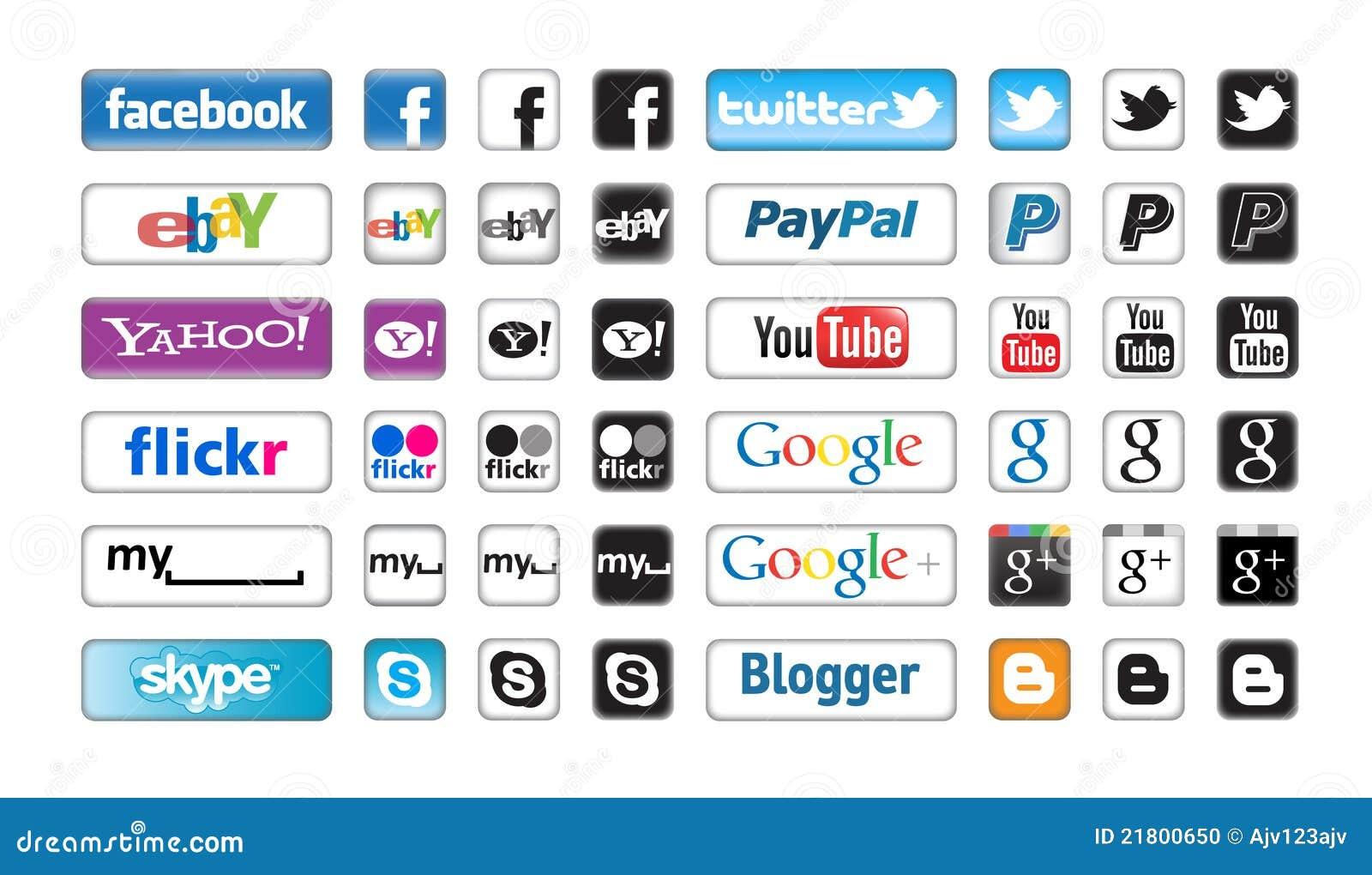 Social сети кнопок apps