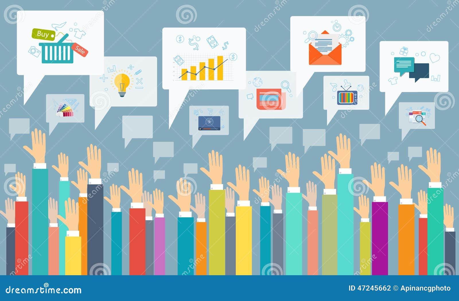 Social affärskommunikation för vektor