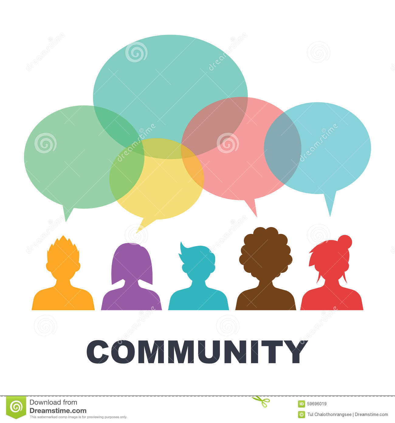 Social Community Stock Vector - Image: 59696019