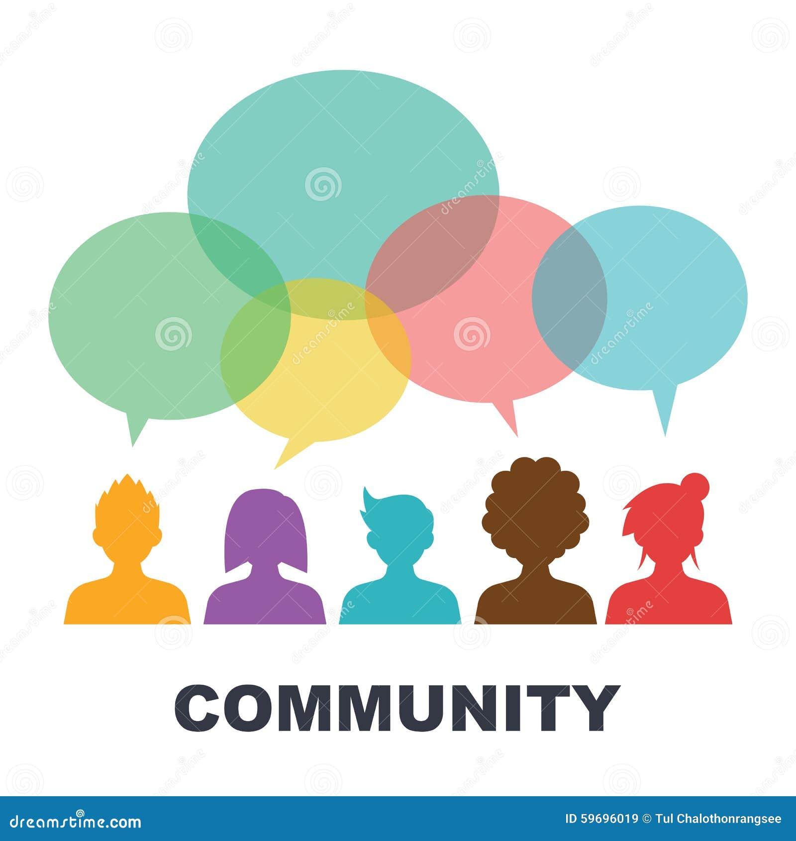 Social Community Stock Vector - Image: 59696019