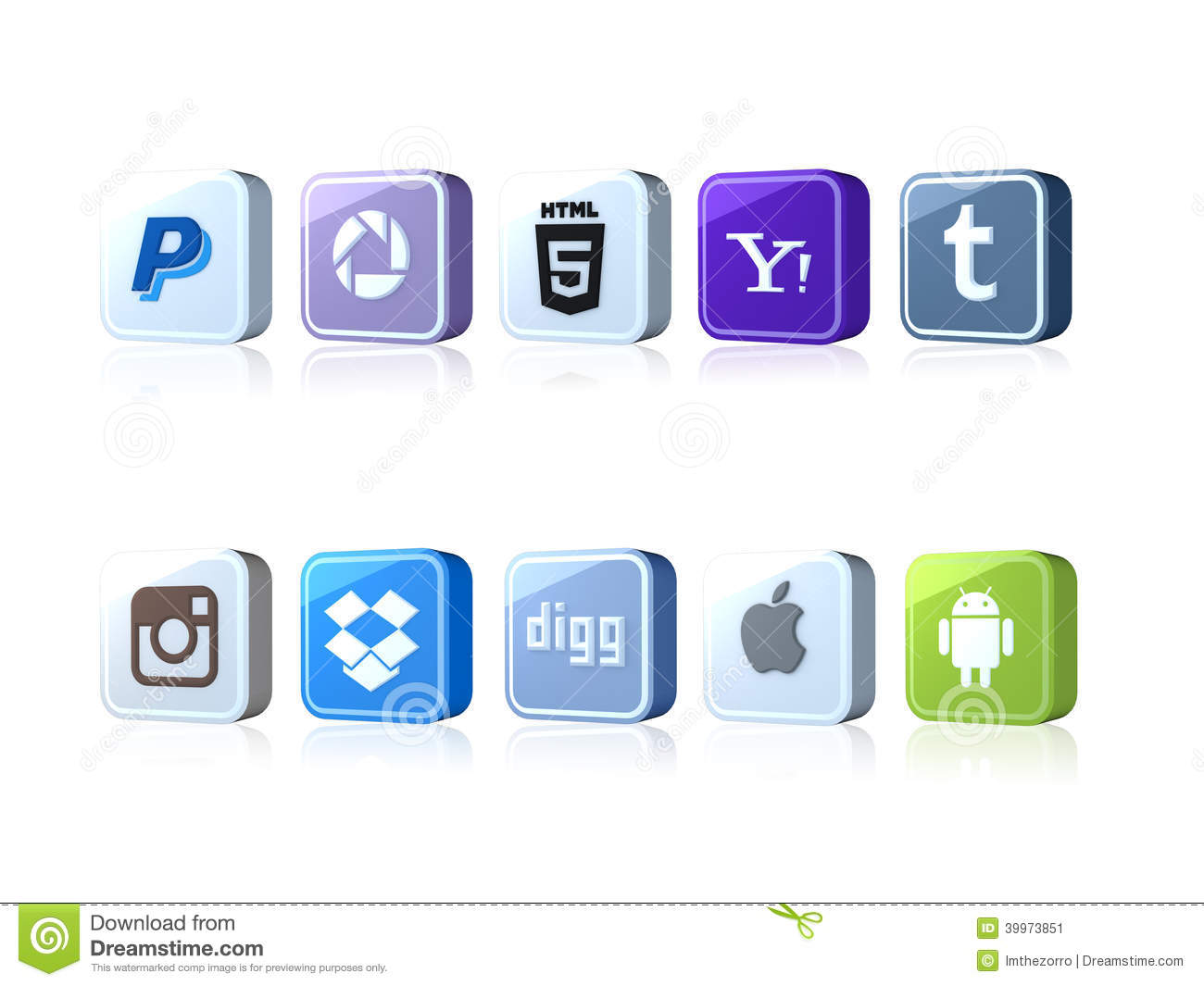 Social icons editorial photo  Illustration of thumblr - 39973851