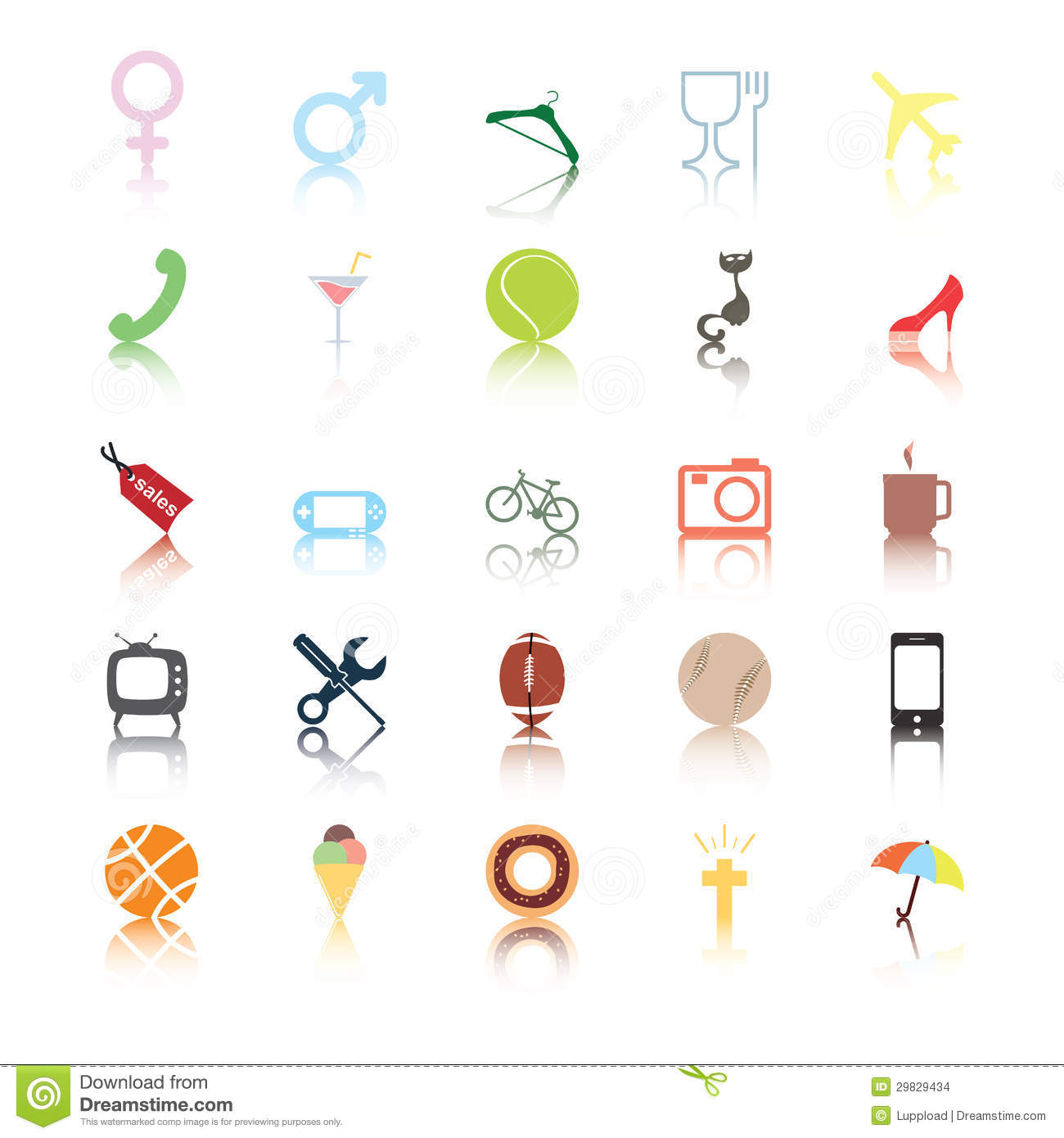 social icons  people interests  stock vector