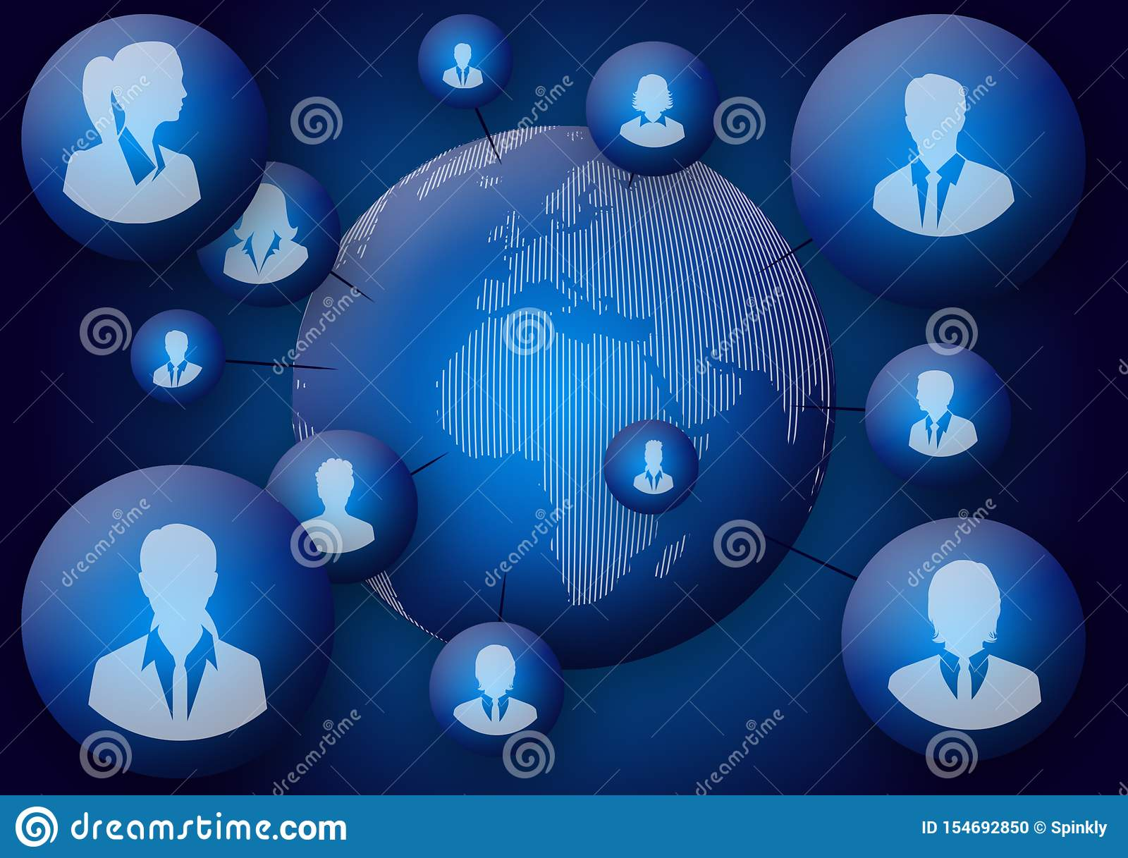 Social Interaction Wallpaper 3d Image Background Stock
