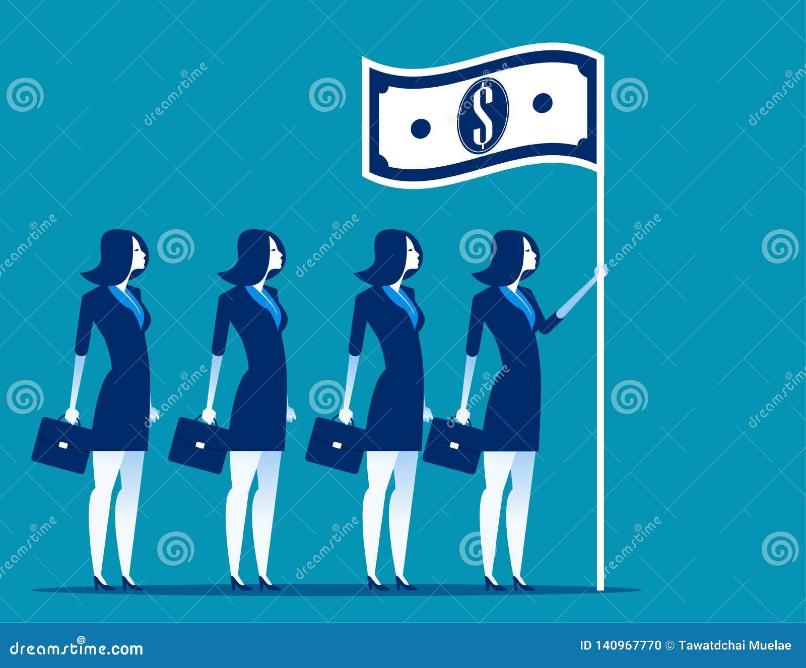 Social kapitalism Företagsledareinnehavflagga Illustration för begreppsaffärsvektor