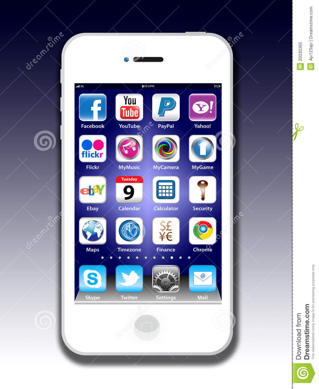 Social madia apps on a apple iphone 4s editorial image for Iphone picture apps free