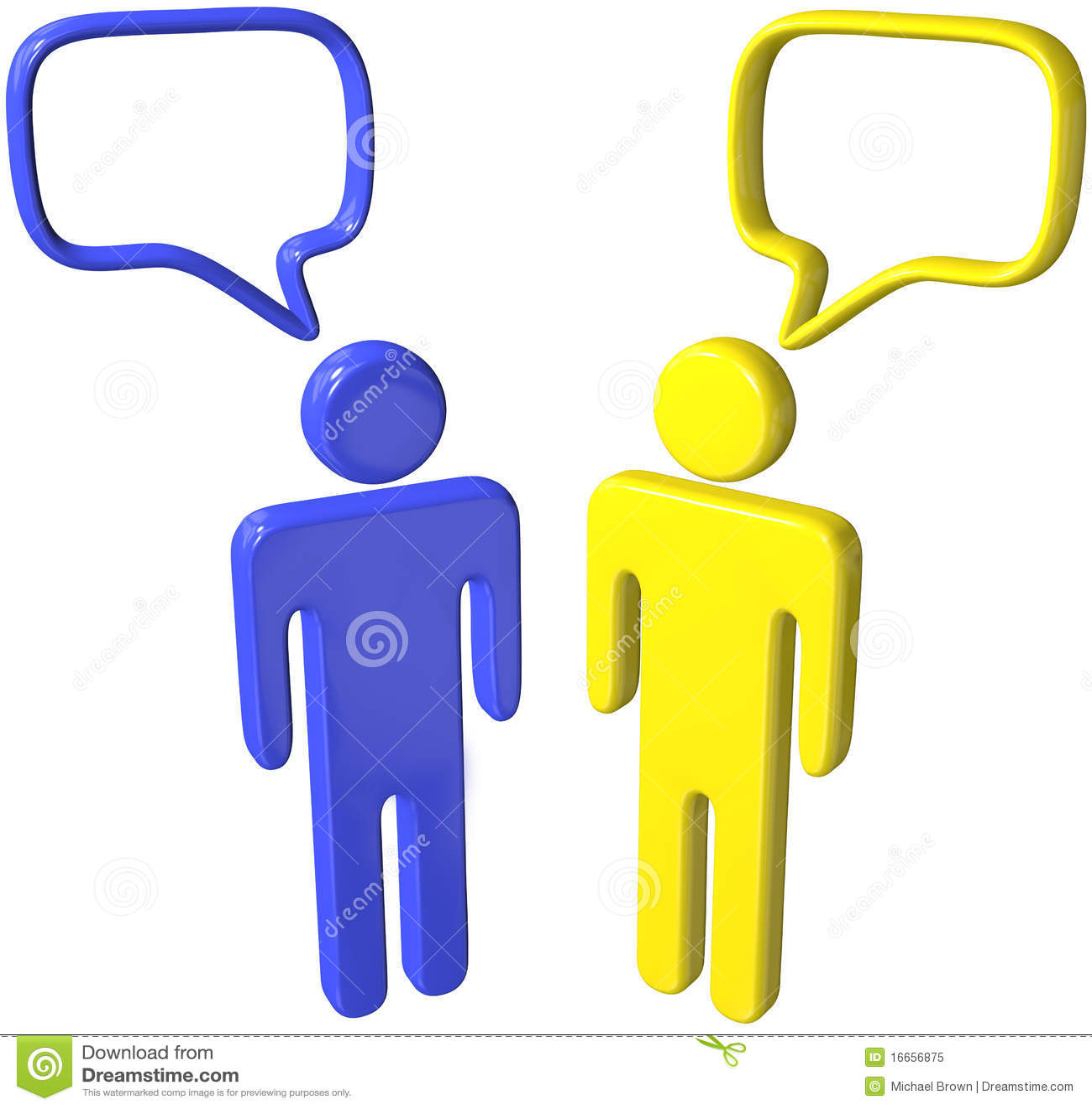 Social Media 3D People Talk Speech Bubbles Royalty Free ...