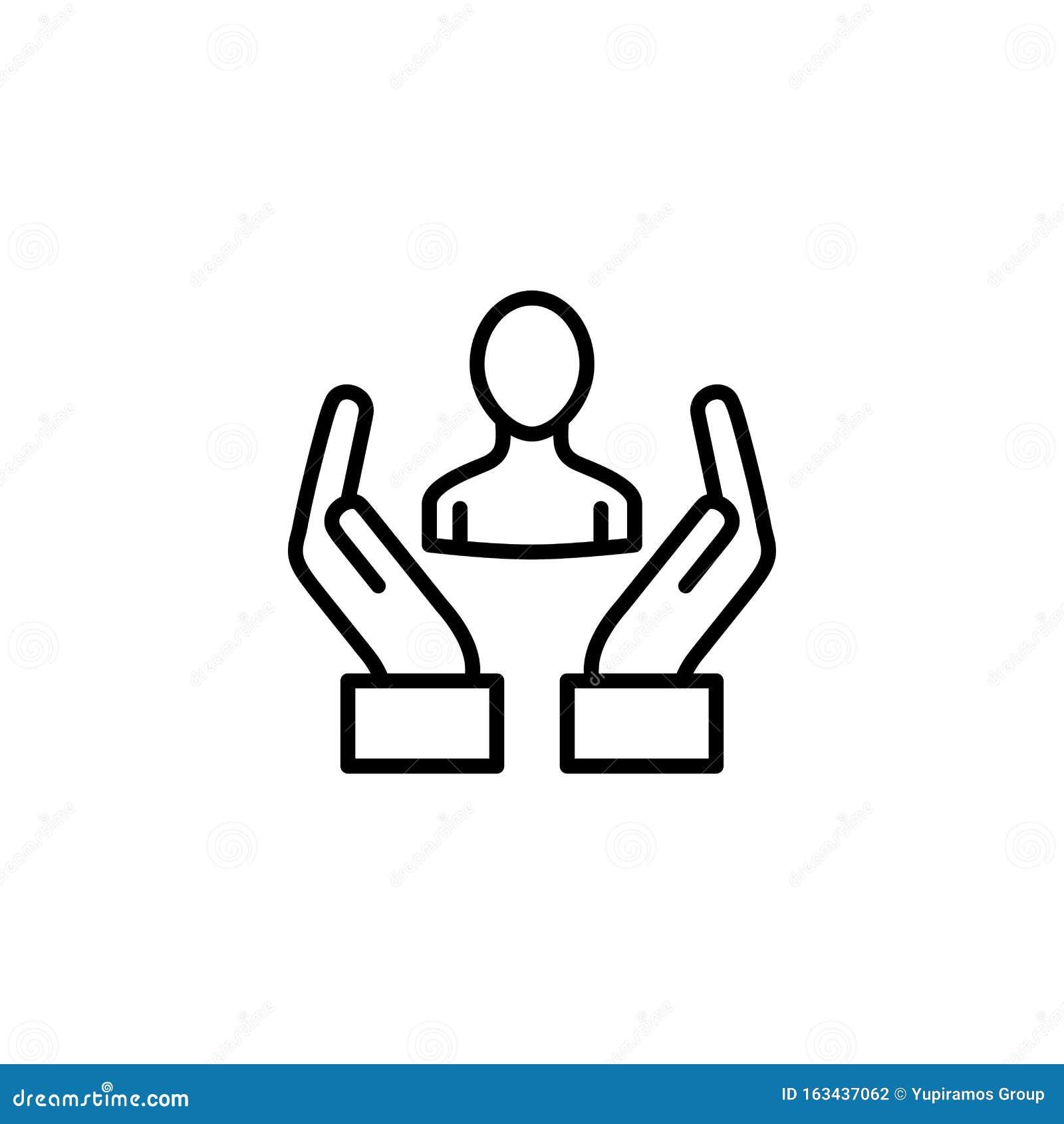Social media avatar icon line design