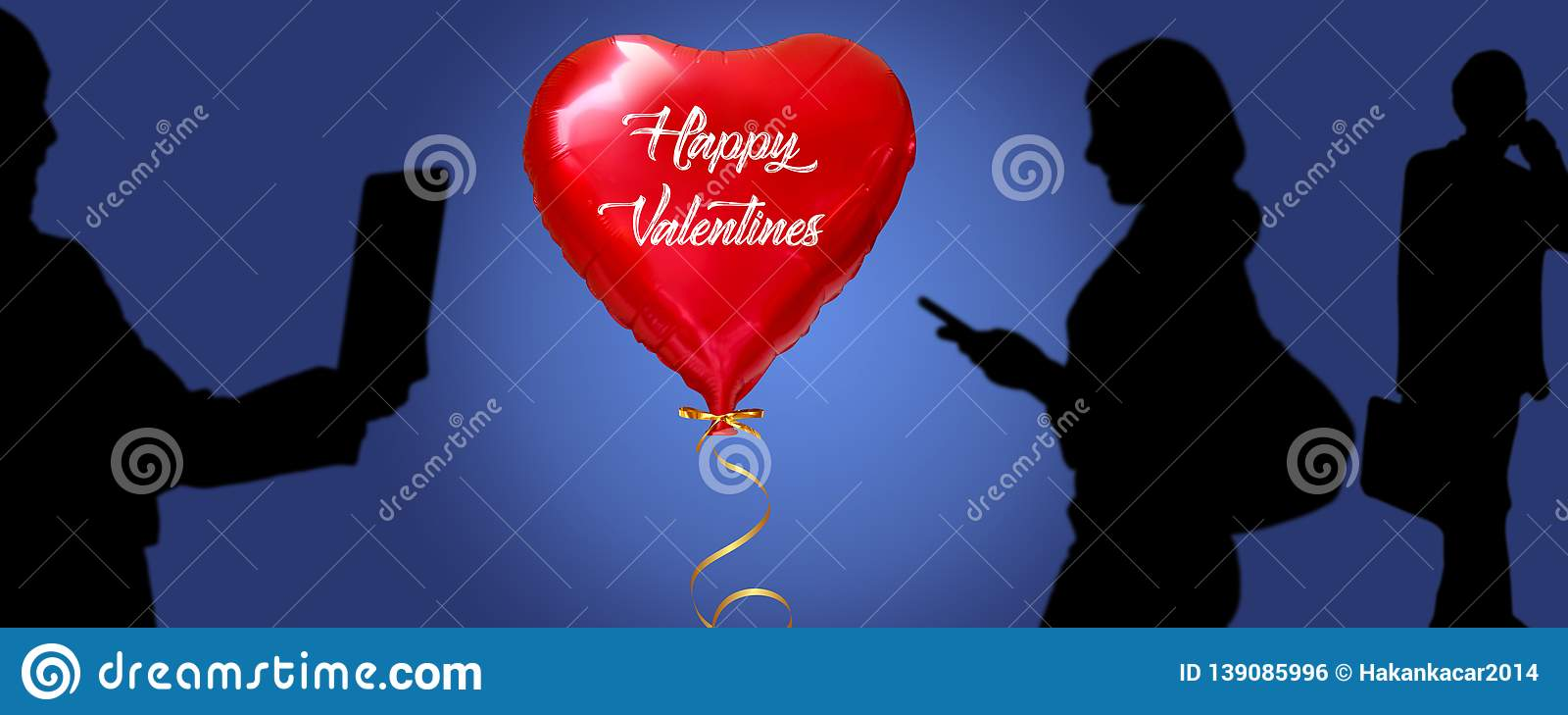 Social media, Baloon, Valentines day.