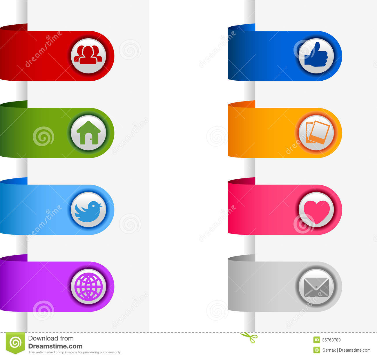 Social Media Banners Royalty Free Stock Images - Image: 35763789