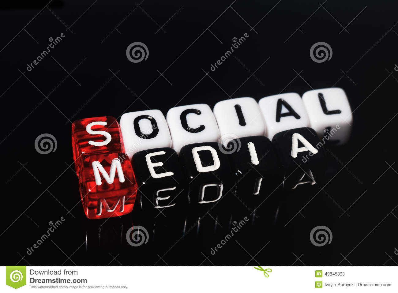 Social Media Black Stock Image Of Network Block