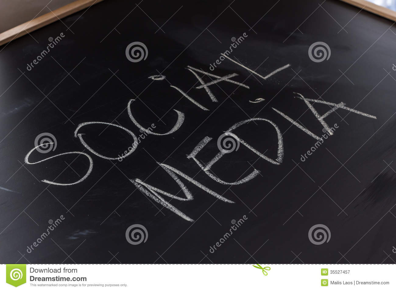 Download Social Media On The Blackboard Stock Image - Image of written, writing: 35527457