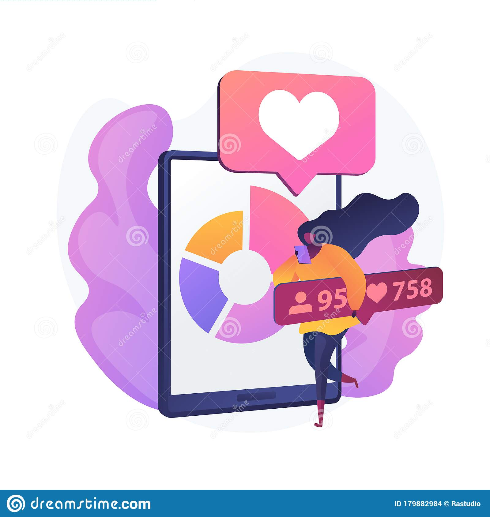 Social Media Blogging Marketing Vector Concept Metaphor Stock Vector Illustration Of Influencer Cartoon 179882984