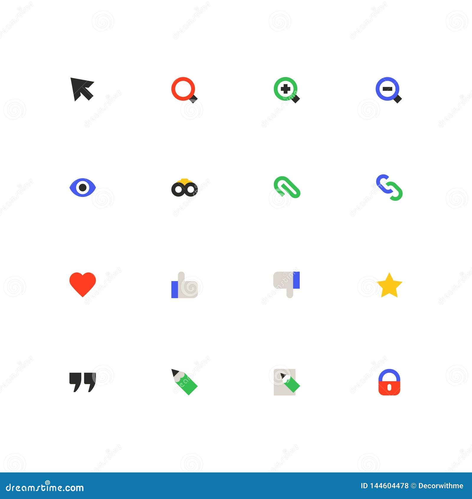 Social media - colorful material design icons set