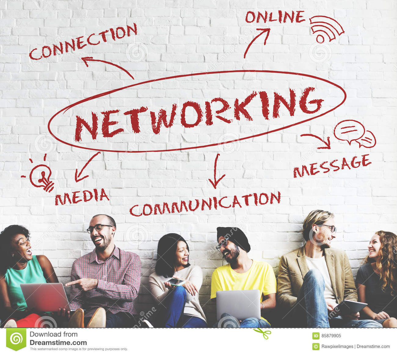 Social Media Communication Connection Network Concept