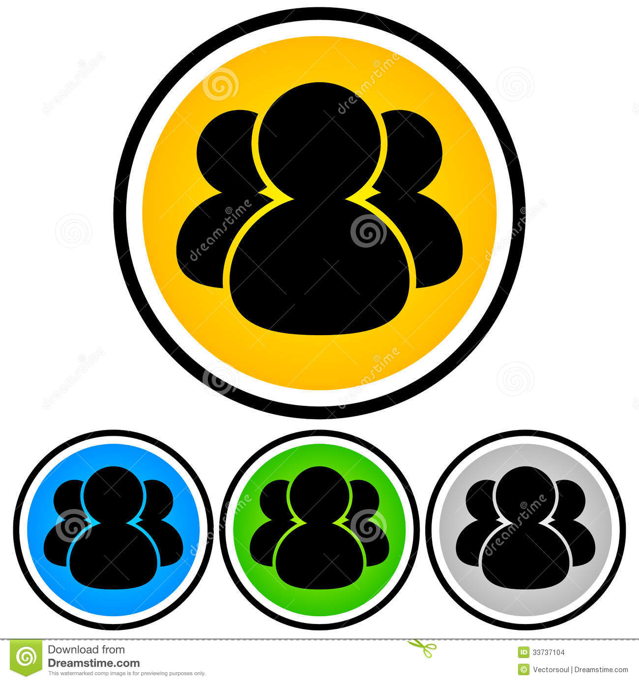 Social Media, Community, People Icon Stock Vector ...