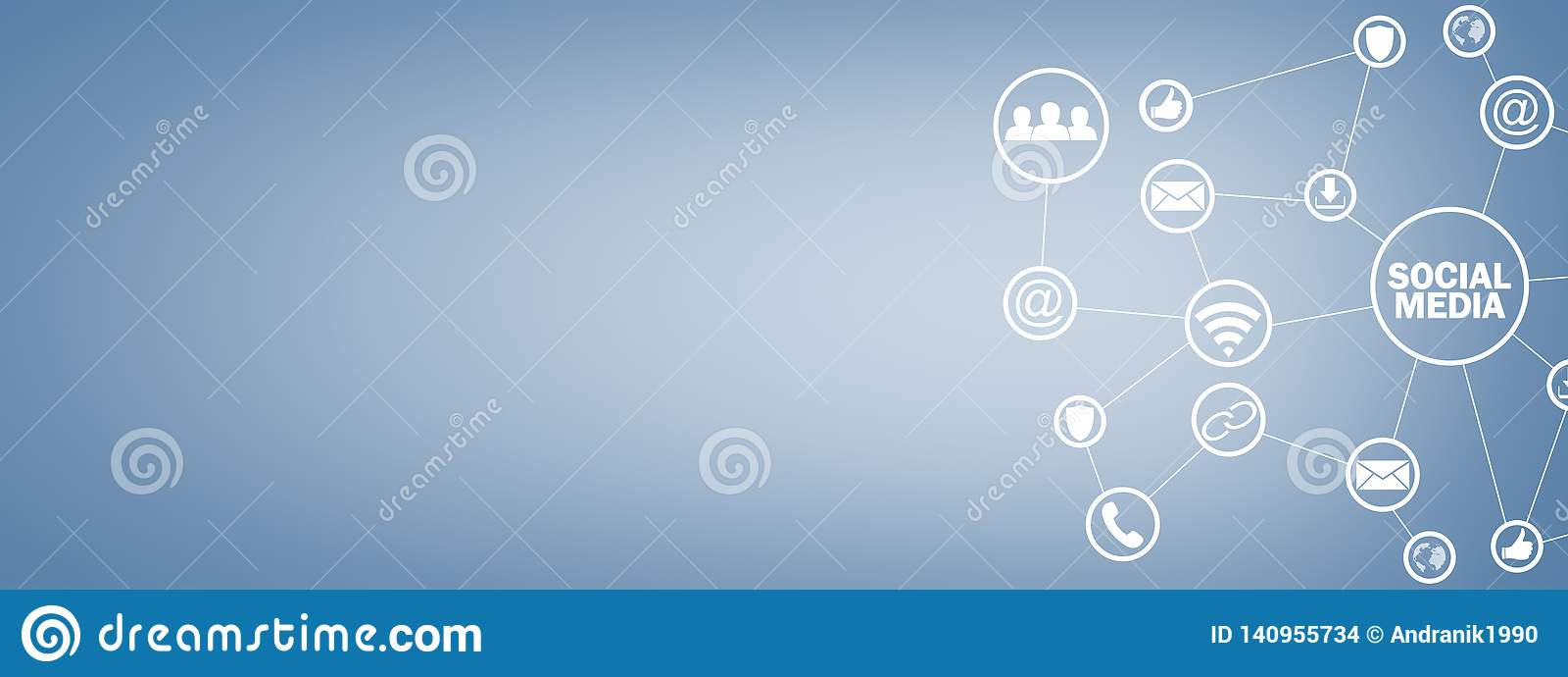Social Media Concept. Business, Technology, Communication