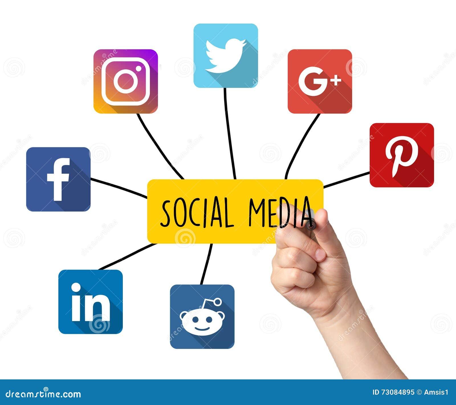 social media editorial image  illustration of hand  link
