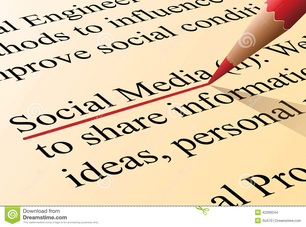 Social media definition stock vector image 42269244 for Soil media definition