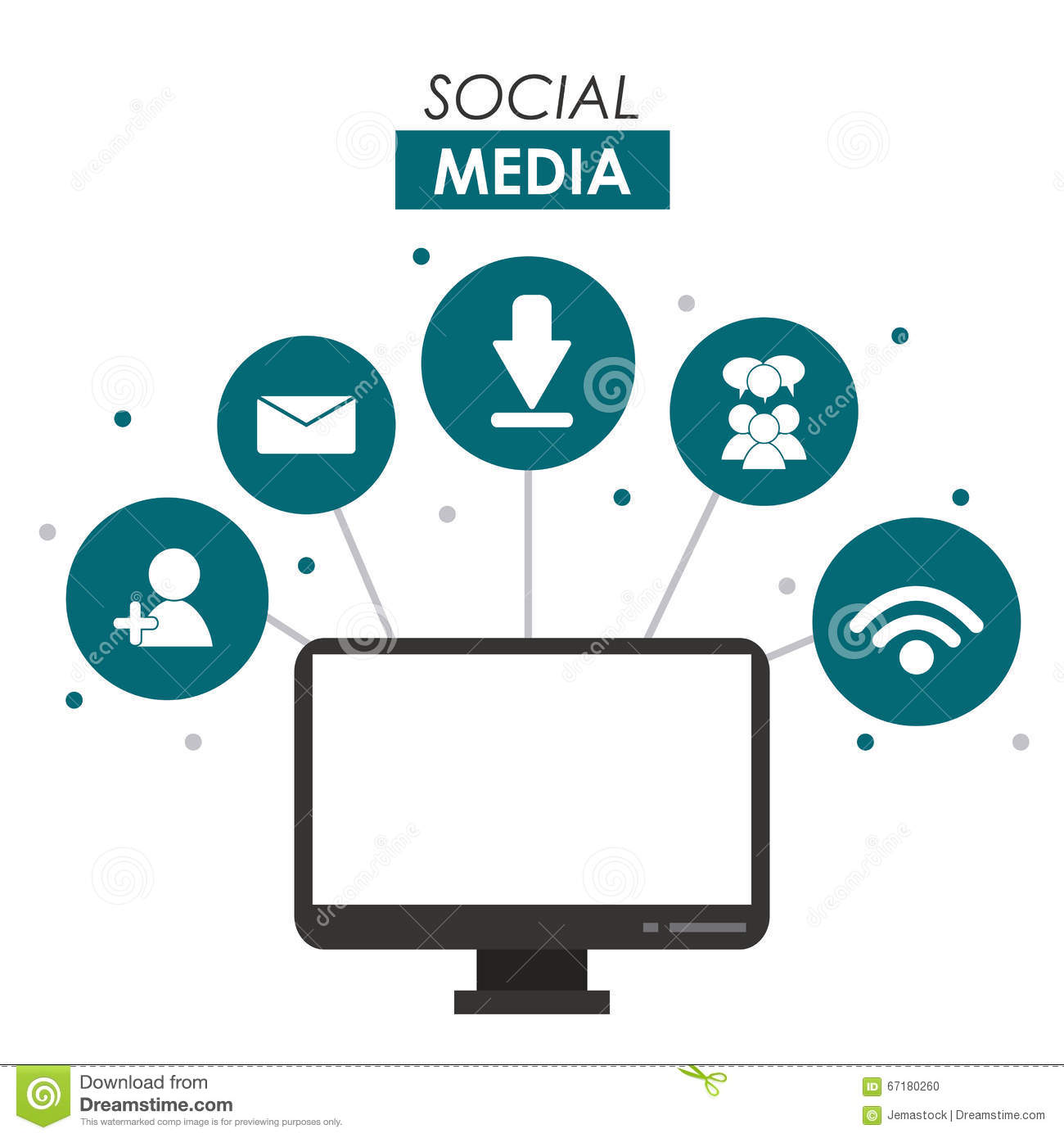 Social Media Design Stock Vector - Image: 67180260