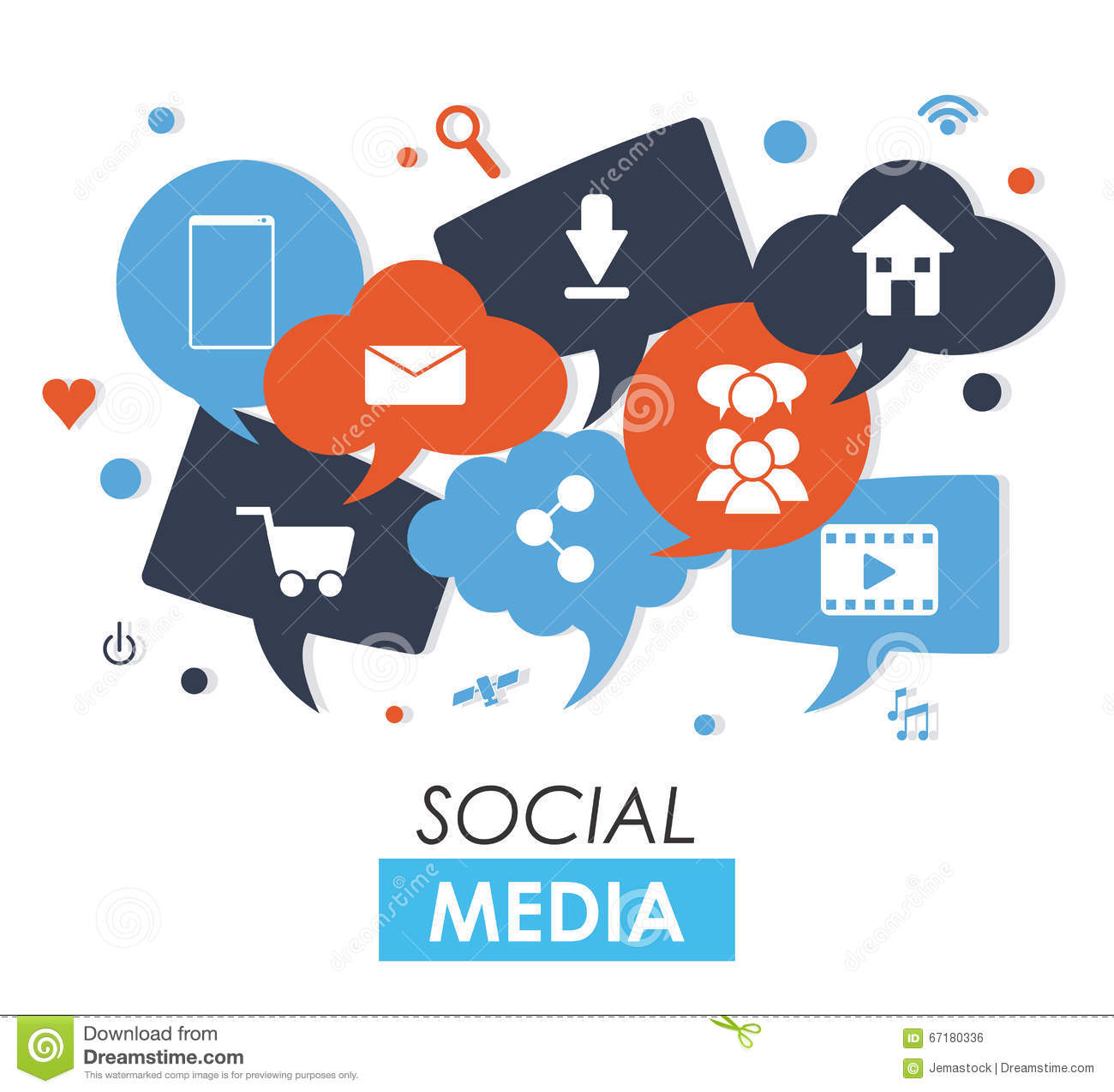 Social Media Design Stock Vector - Image: 67180336