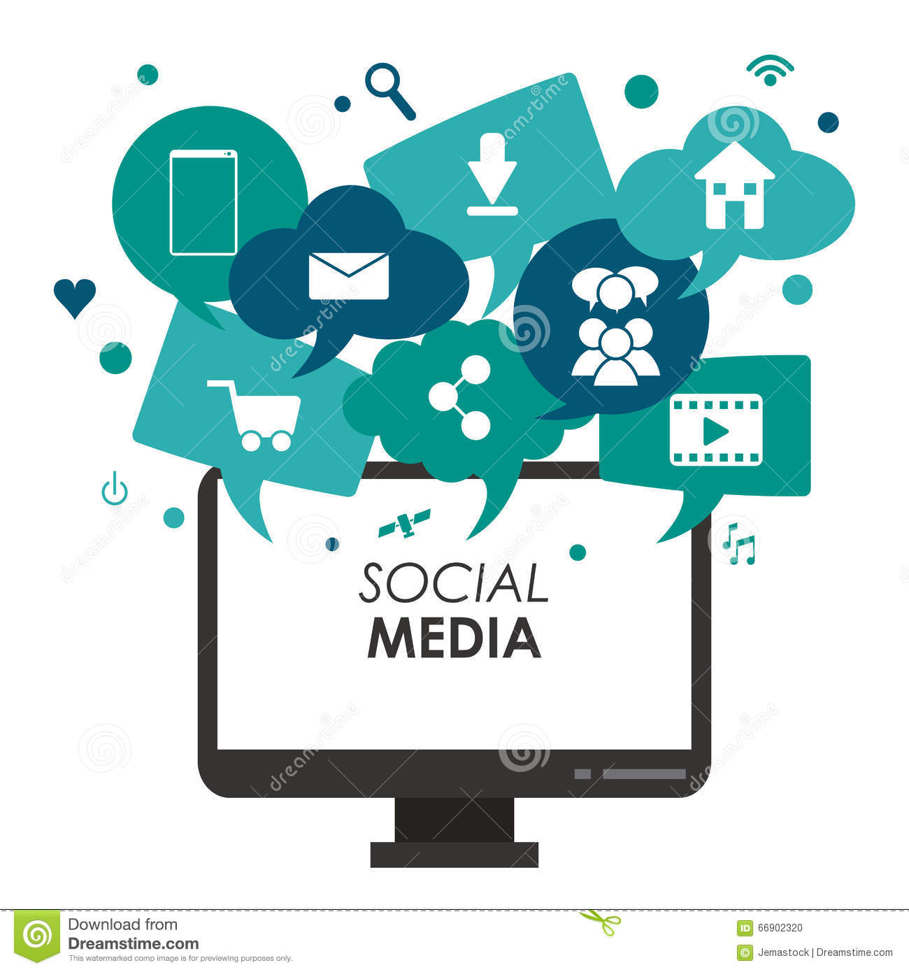 Social Media Design Stock Vector - Image: 66902320