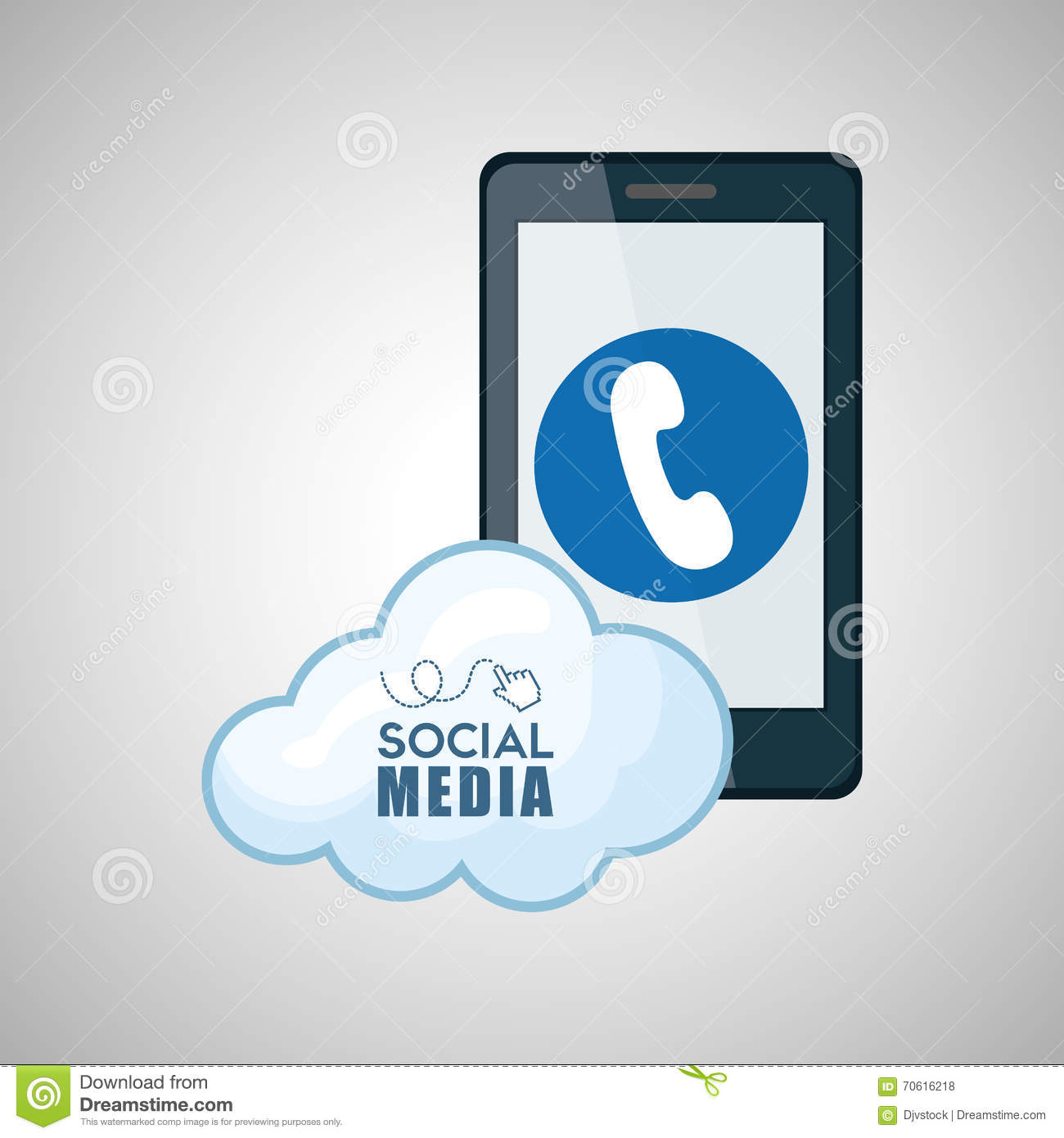 Social Media Design. Smartphone Icon. Networking Concept ...