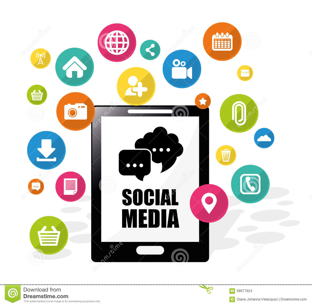 Social Media Design. Stock Vector - Image: 58677624