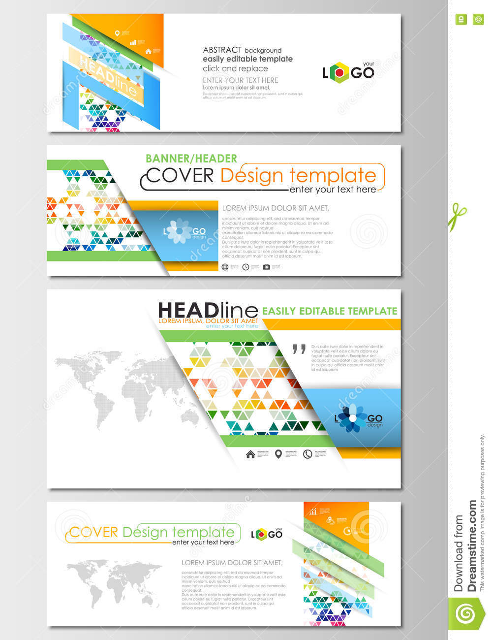 Social media and email headers set modern banners business download social media and email headers set modern banners business templates cover design accmission Images