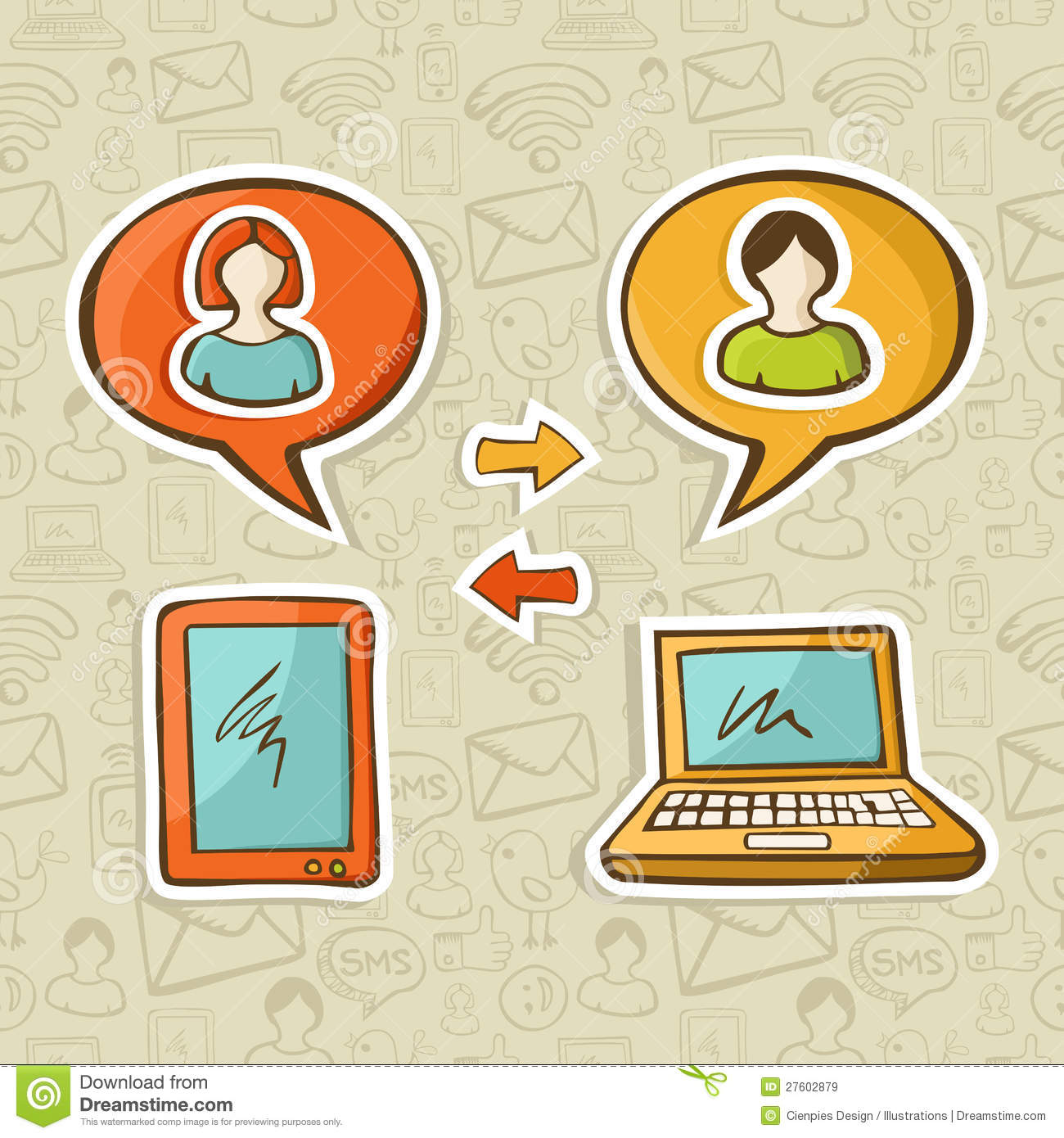 Social media gadgets connecting people