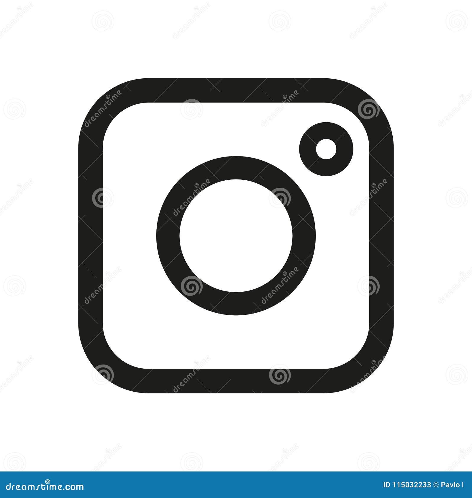 Vector Illustration Instagram: Social Media Icon, Photo Camera Instagram Icons Stock