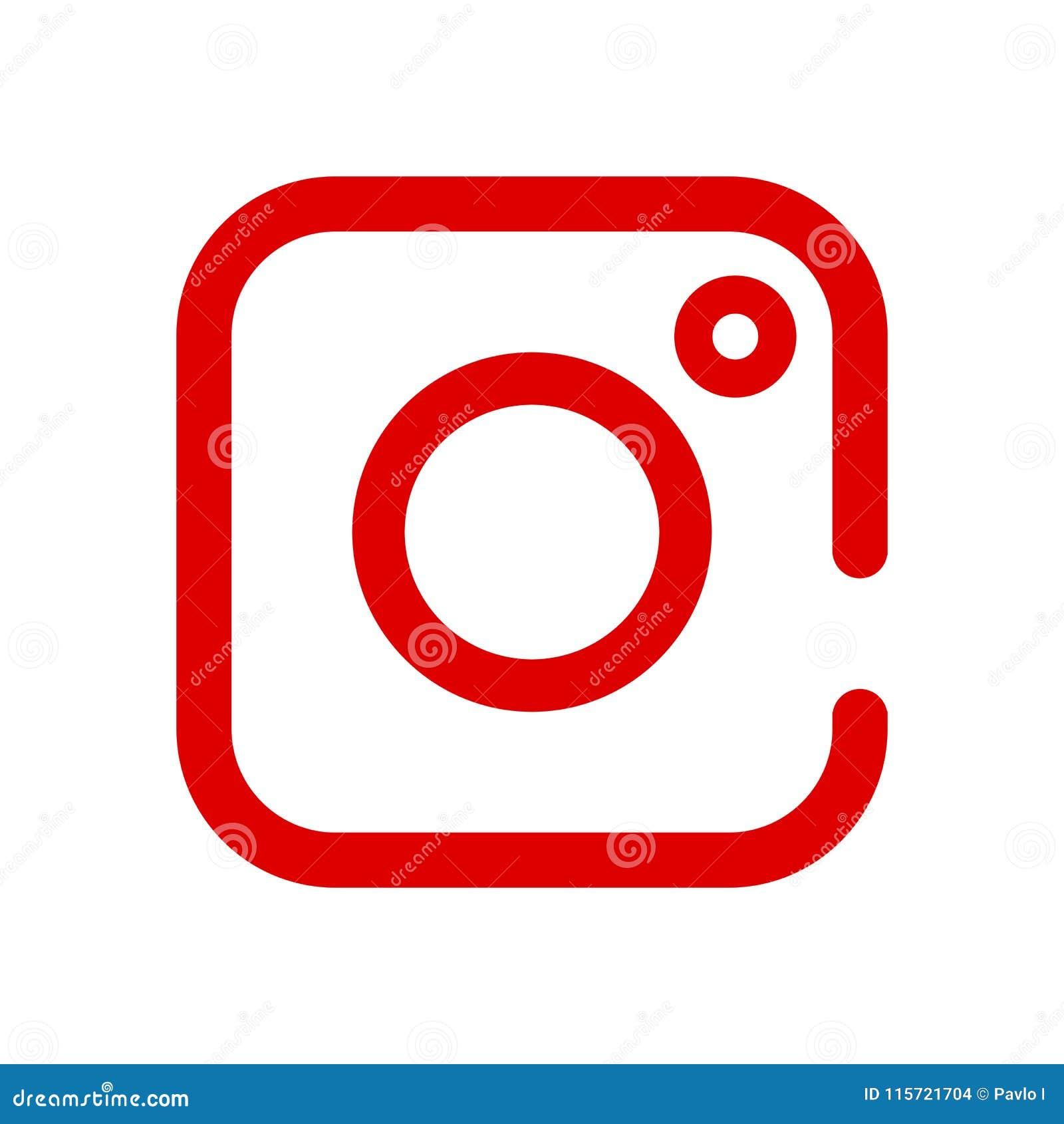 Social Media Icon, Photo Camera Instagram Icons Stock ...