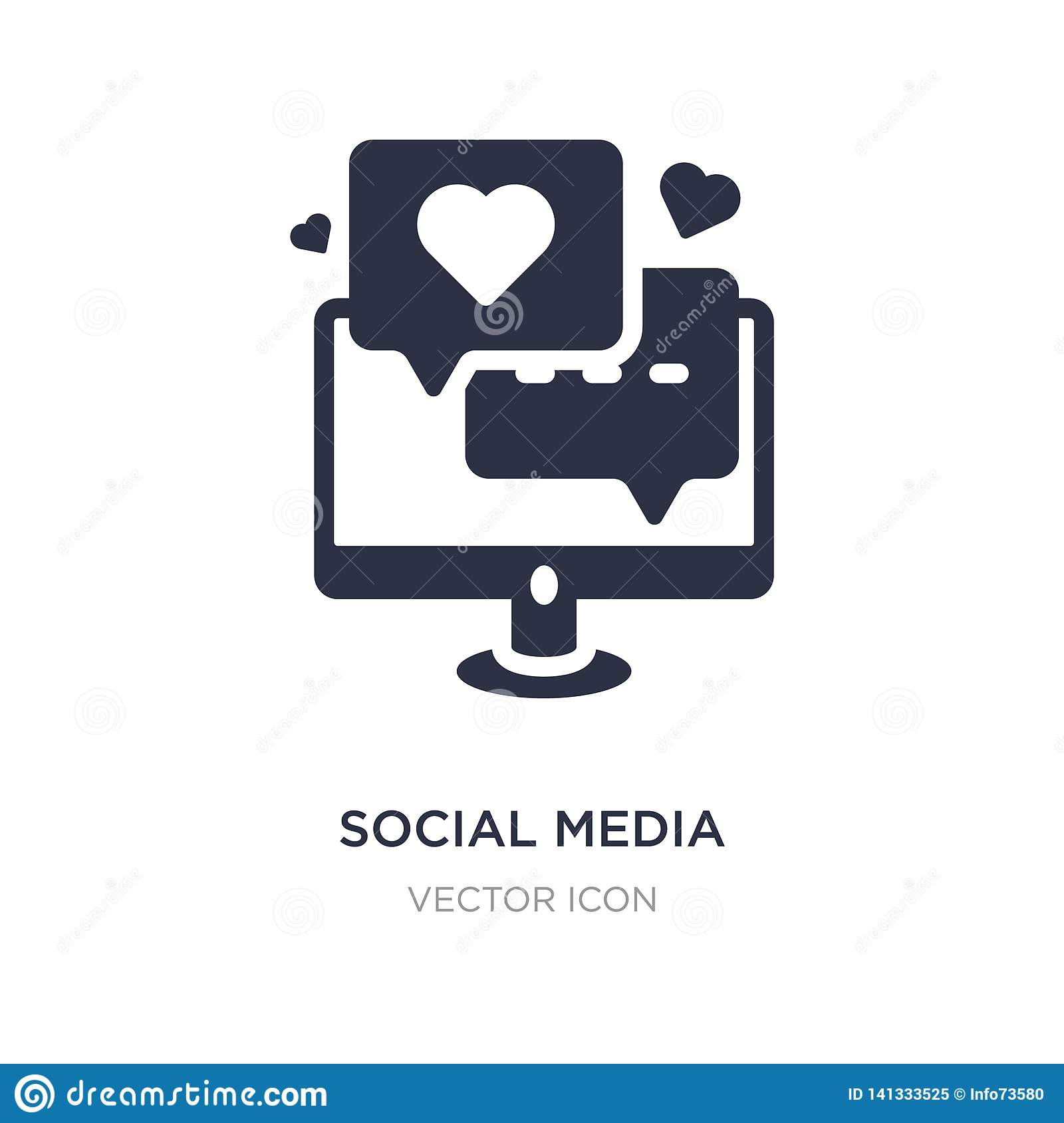 social media icon on white background. Simple element illustration from Digital economy concept