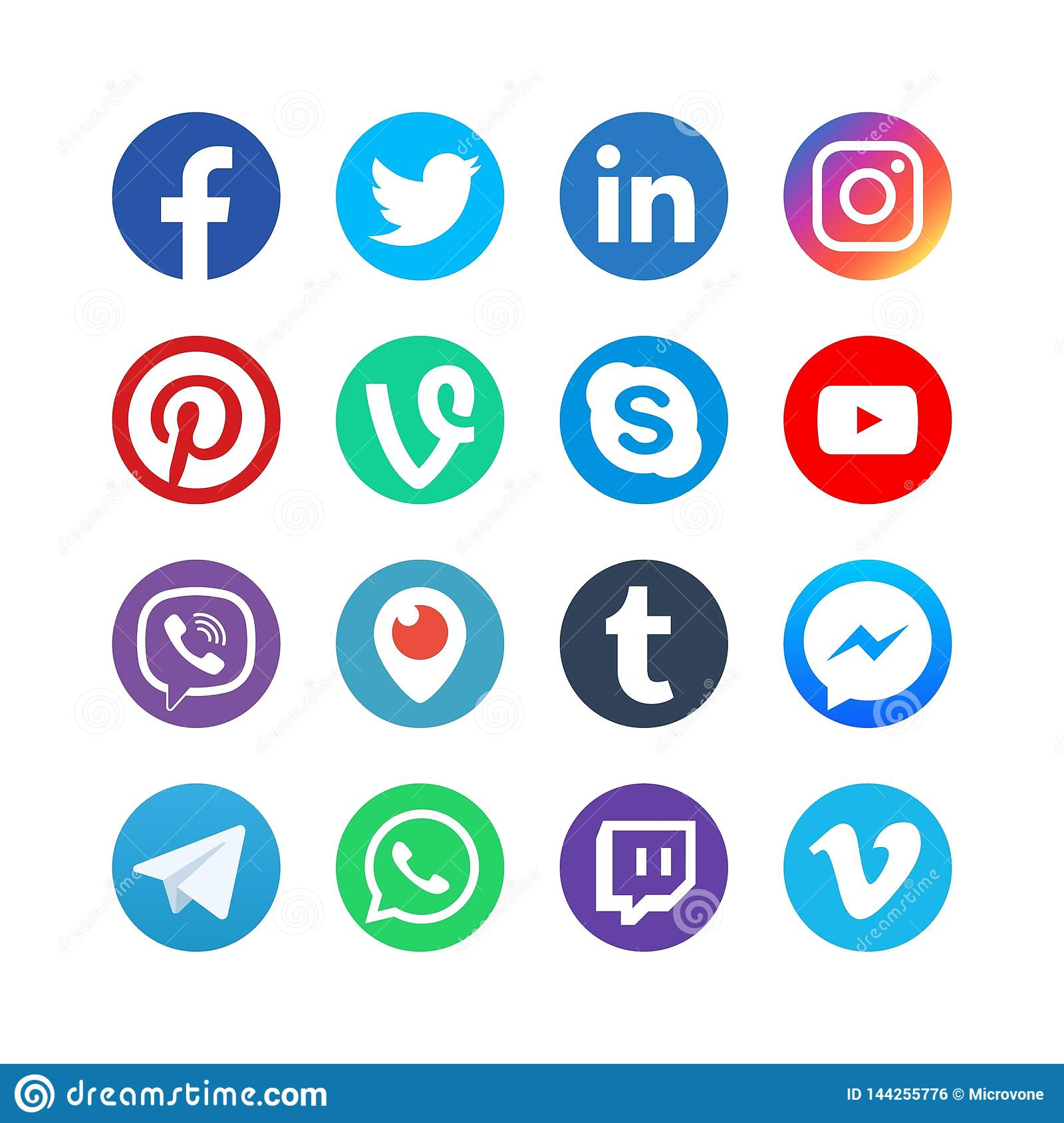 Social Media Icons  Inspired By Facebook, Instagram And