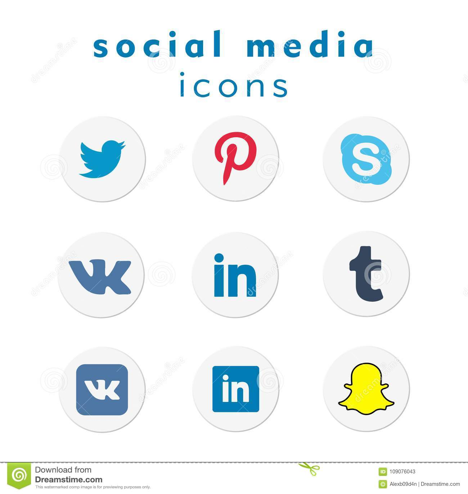 9 new logo-icons social media (vector)