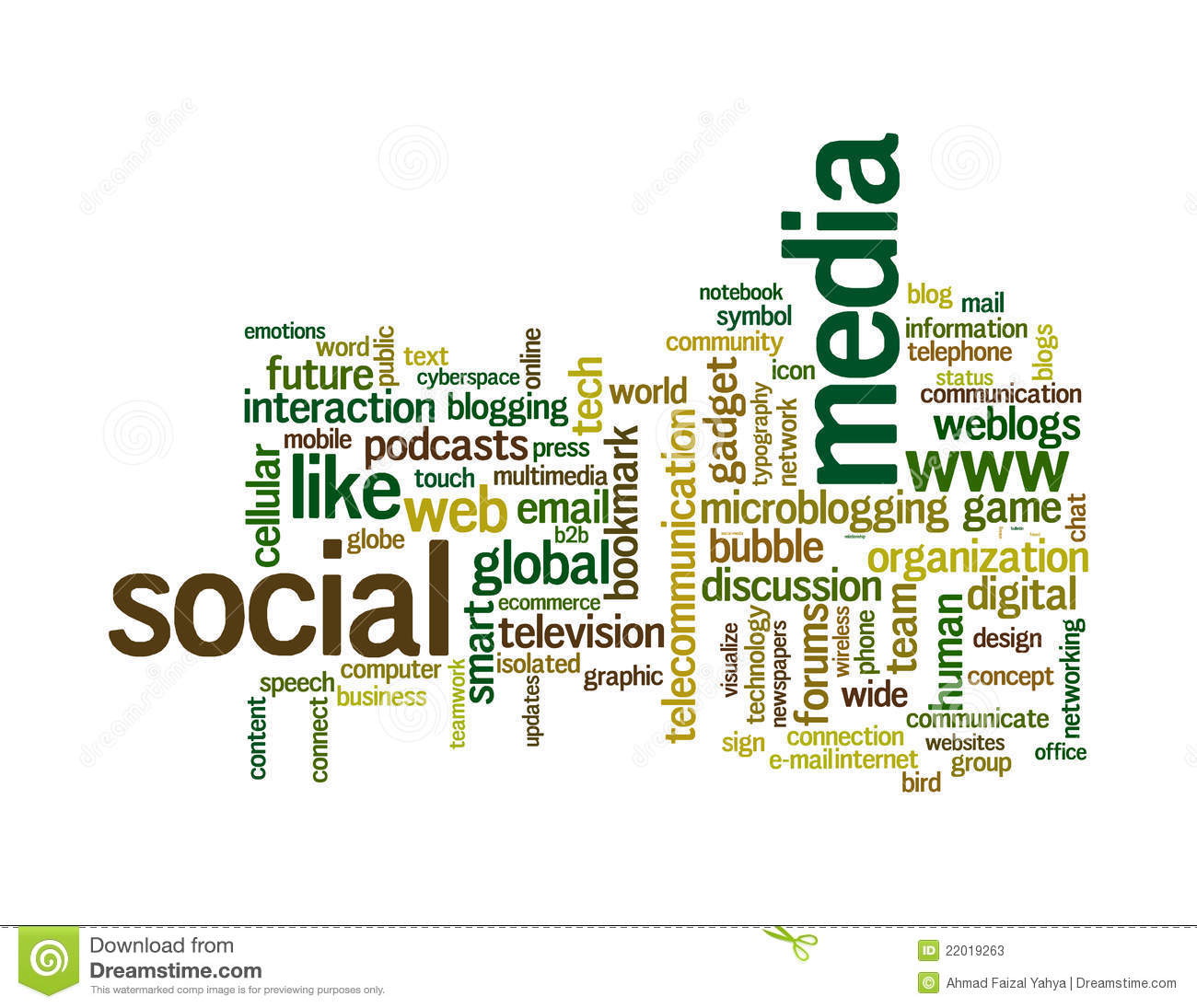 social media info text graphics word clouds stock illustration