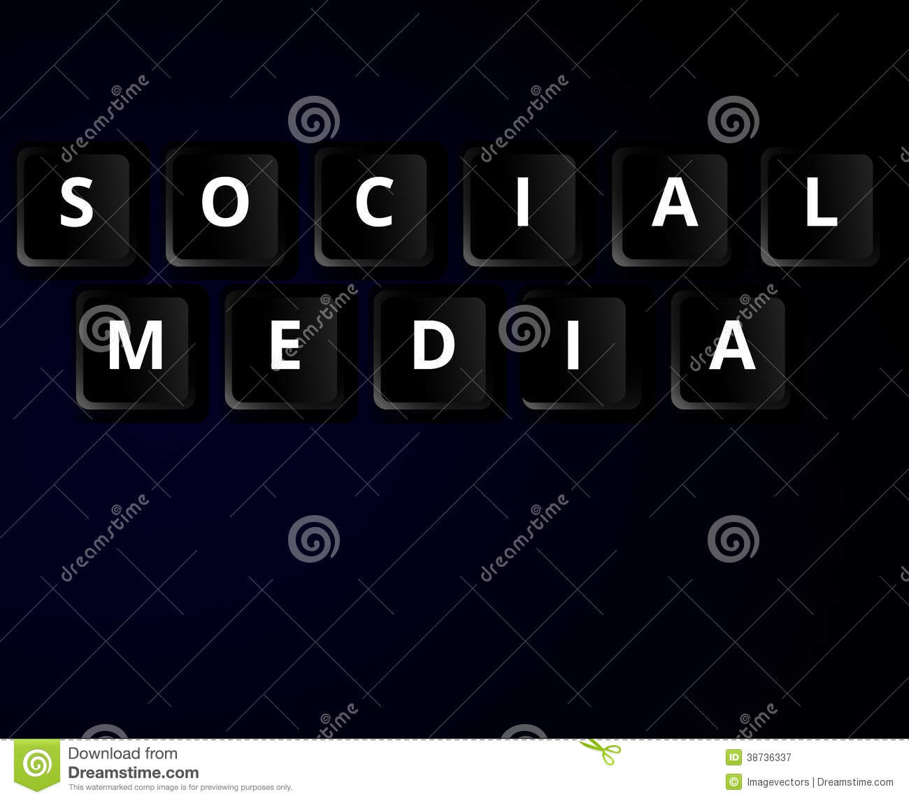 Social media keys concept stock vector  Illustration of company